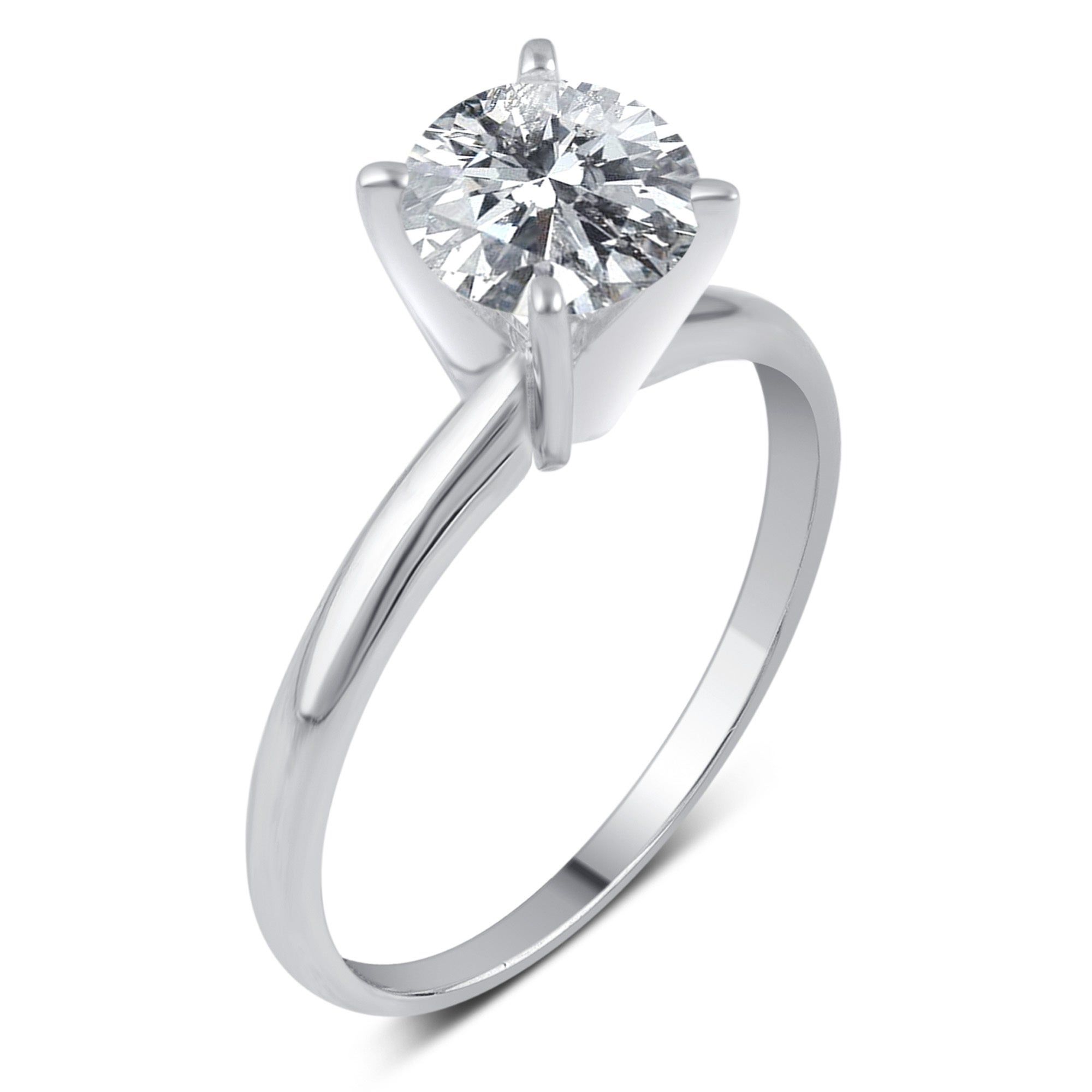 with white carat gold ring set solitaire diamonds jewellery engagement diamond product of