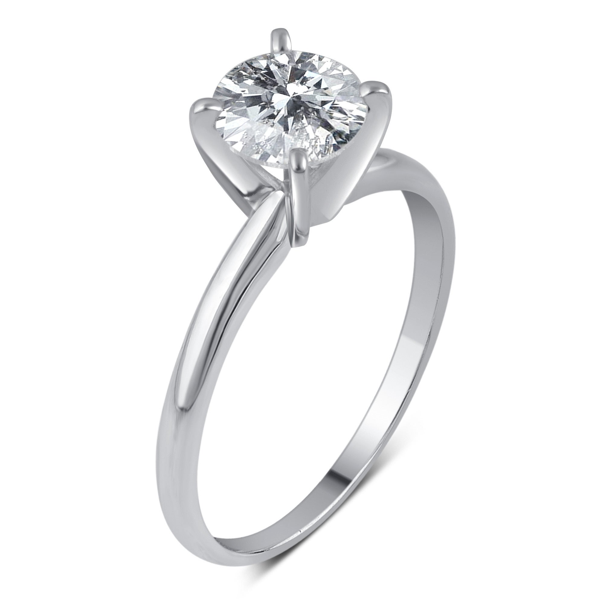 solitaire set gold ring with white diamonds engagement carat of rings product diamond