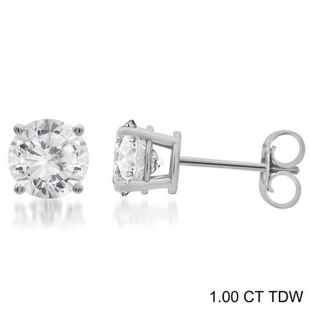 67597f8be Shop Divina 14k Gold 1/4 to 1 1/2ct TDW Round Diamond Solitaire Stud  Earrings - On Sale - Free Shipping Today - Overstock - 10533830