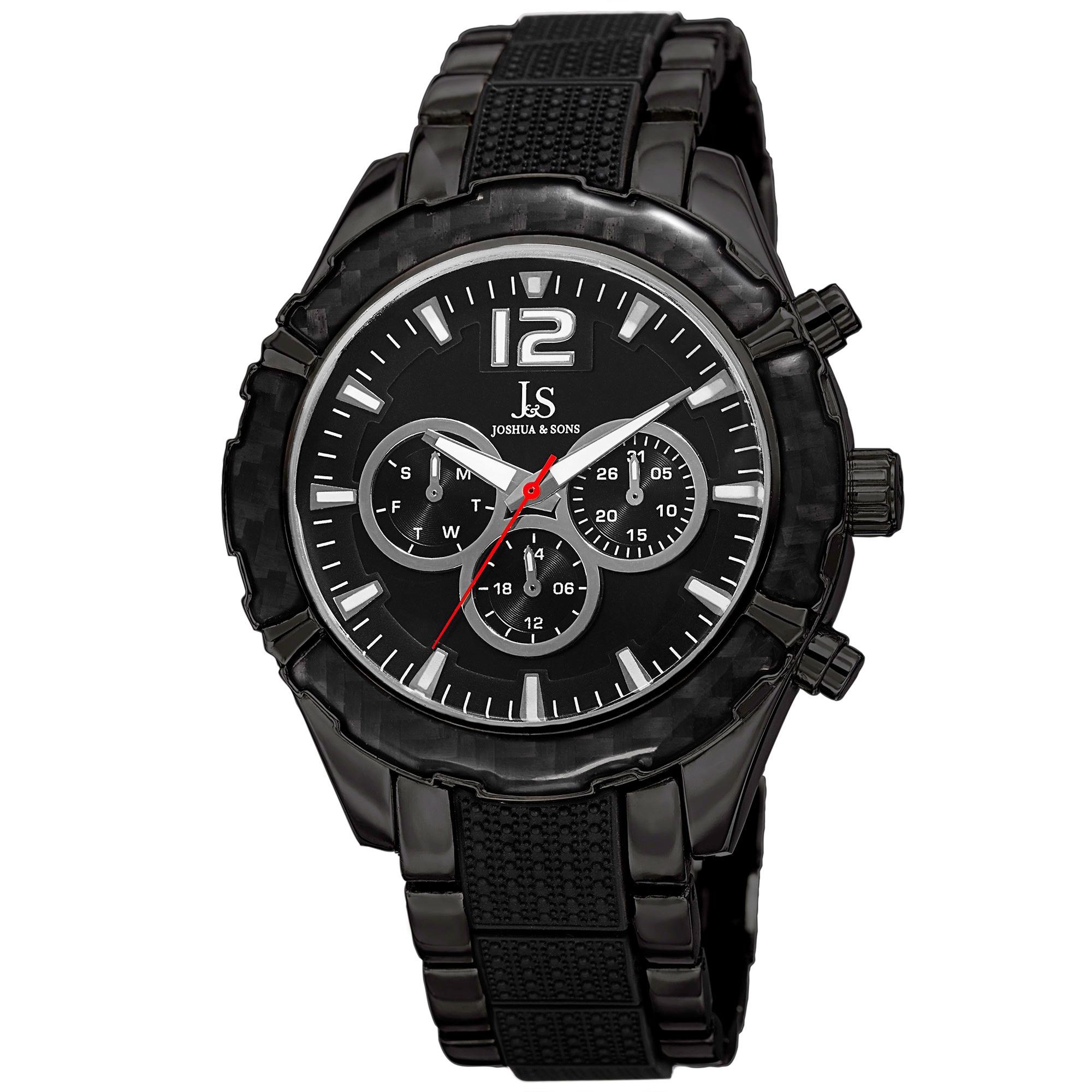 6e5d2763fbb Shop Joshua   Sons Men s Swiss Quartz Multifunction Bracelet Watch - On  Sale - Free Shipping Today - Overstock - 10534070