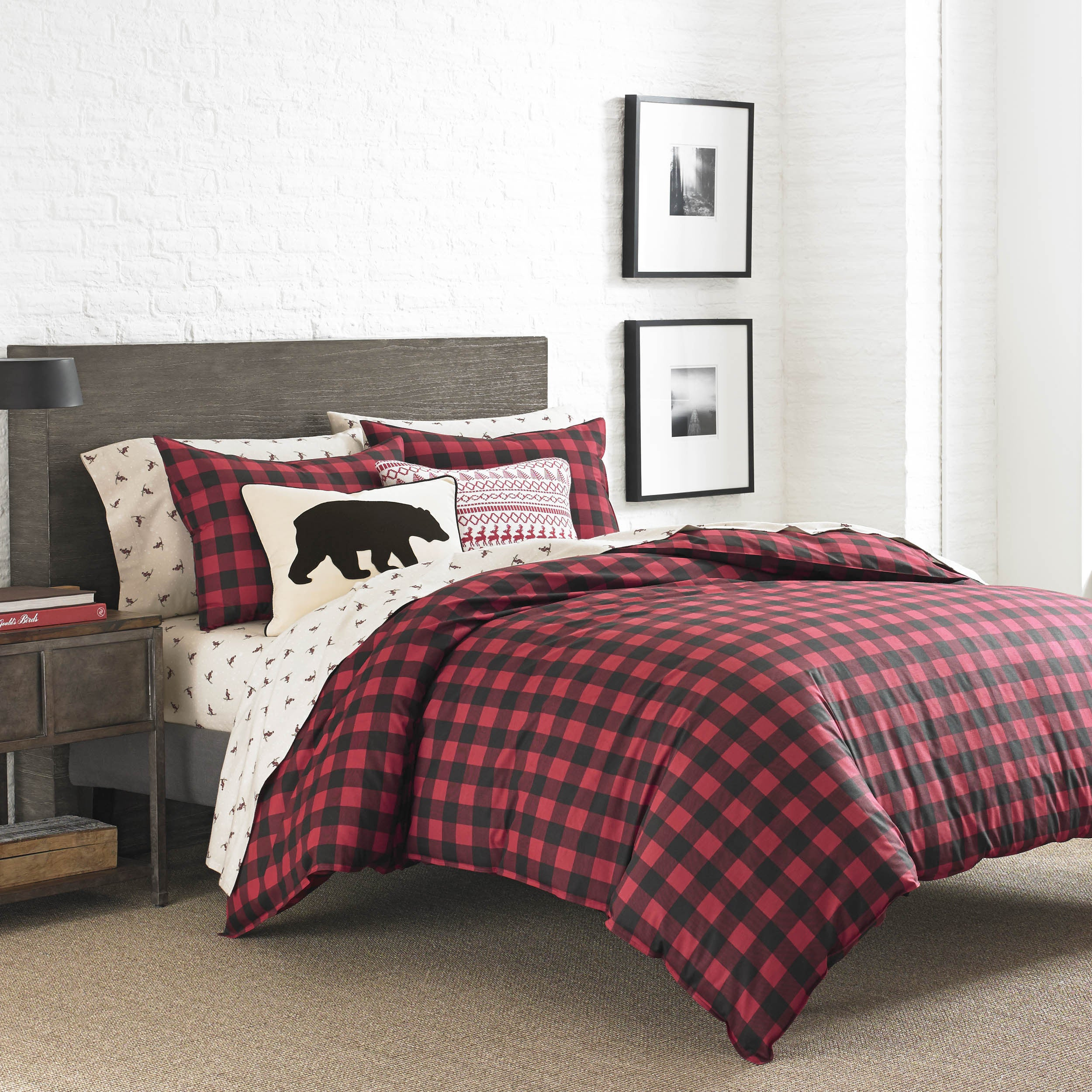 plaid wayfair set red reviews pdx bed bath eddie bauer cover willow duvet comforter