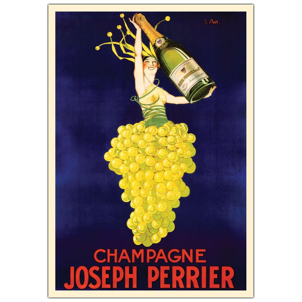 Shop Vintage Art \'Champagne Joseph Perrier\' Canvas Wall Art - On ...
