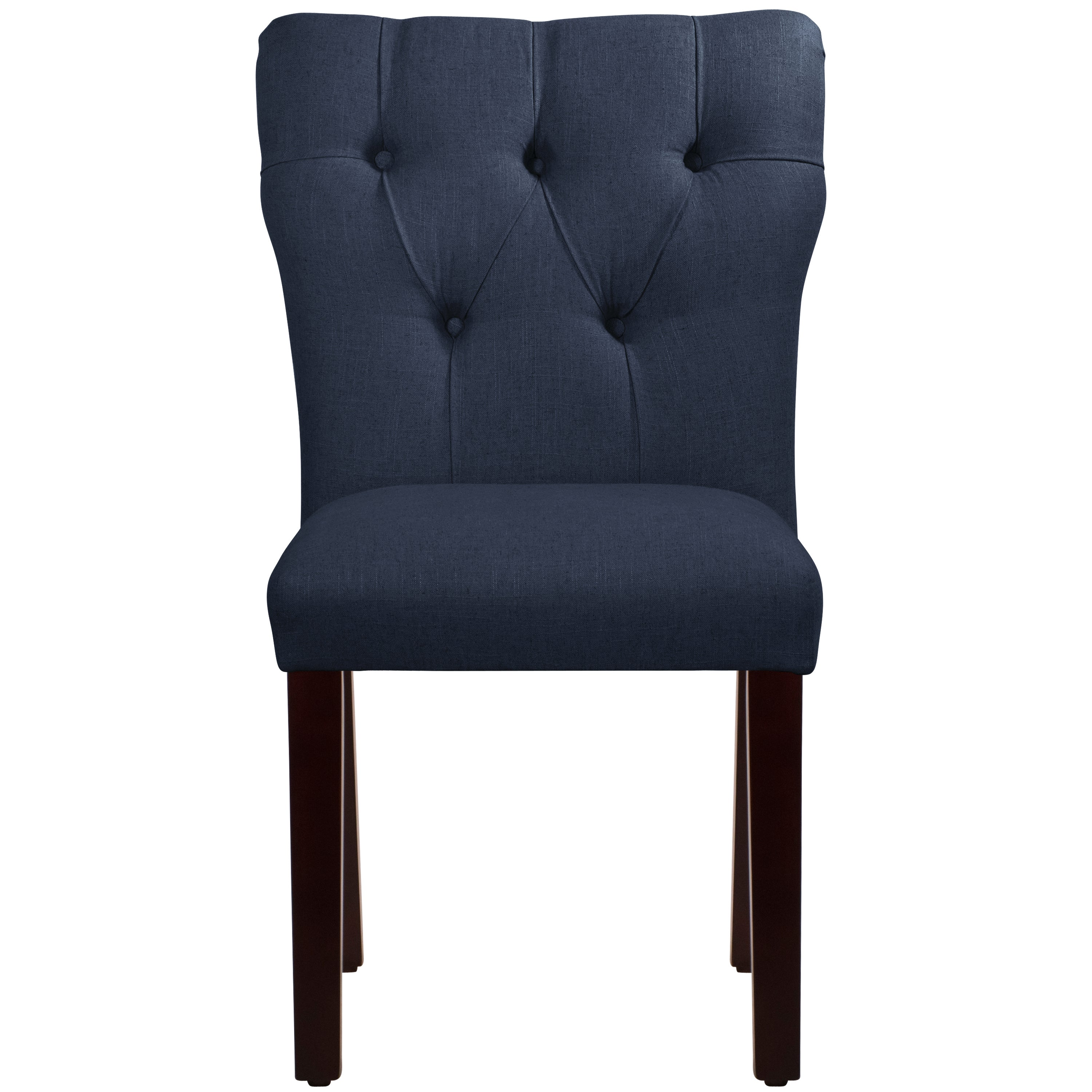 Skyline Furniture Tufted Hourgl Dining Chair In Linen Navy Free Shipping Today 10534647