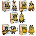 Funko Minions Pop Movie Vinyl Collectors Set with Minion King/ Cro-Minion/ Bored Silly Kevin/ Eye Matie/ Au Naturel
