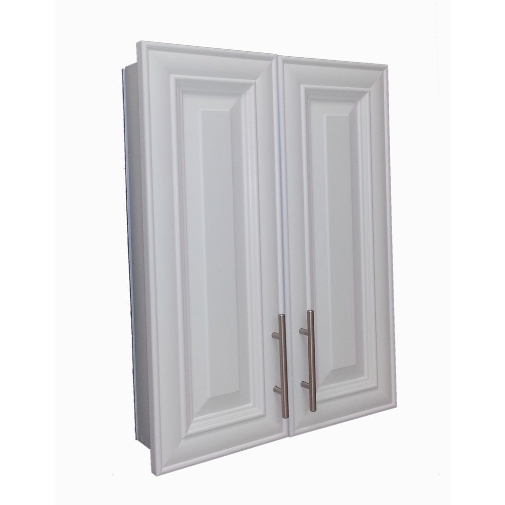 Overton 32 Inch High 2 Door 3 5 Recessed Frameless Medicine Cabinet Free Shipping Today 10535865