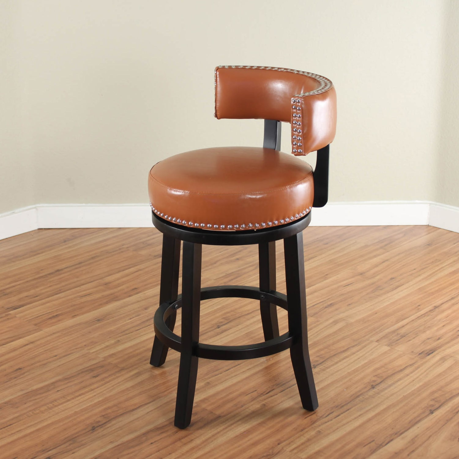 Mossoro Swivel Leather Counter Stool On Free Shipping Today 10536034