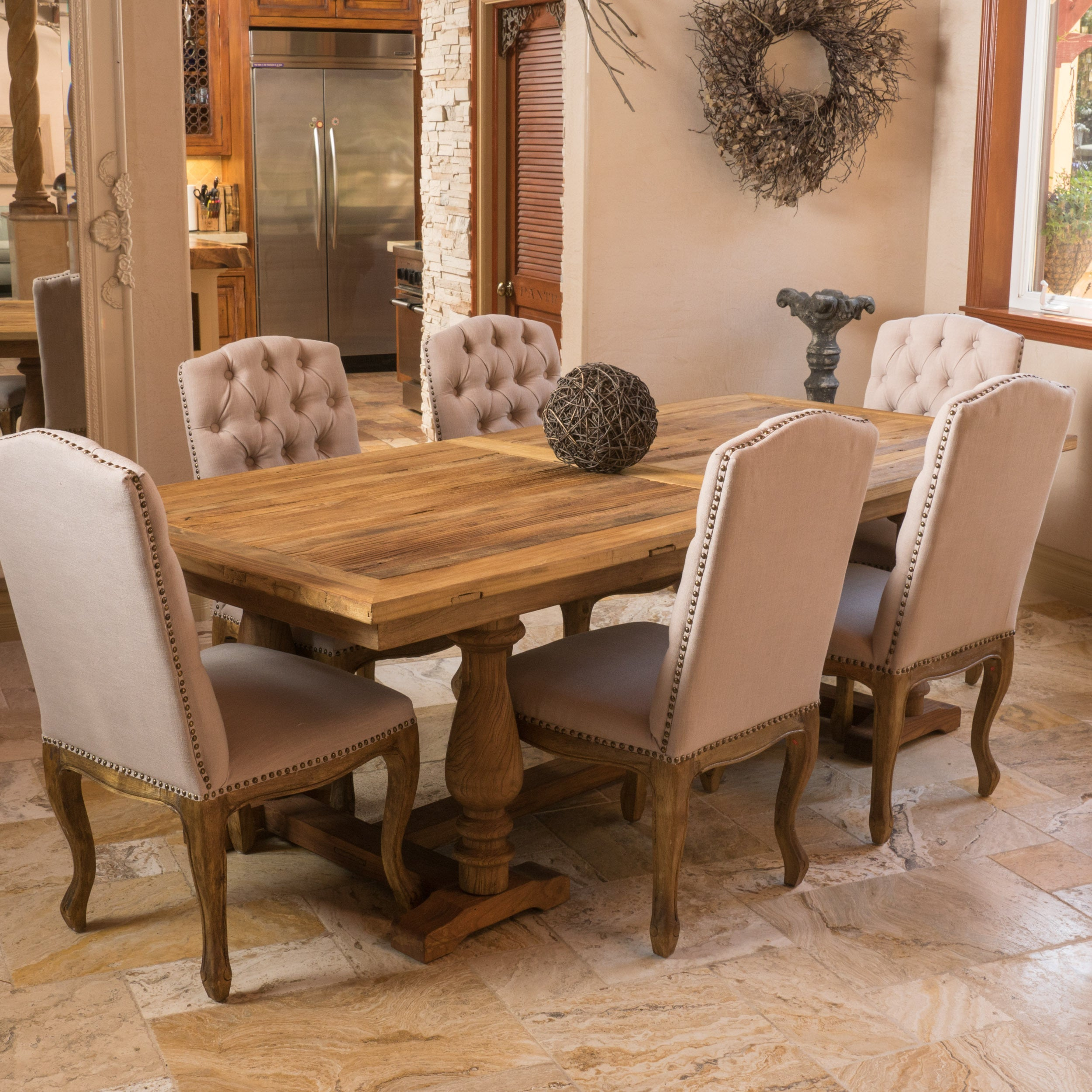 Westland elm wood rectangle dining table only by christopher westland elm wood rectangle dining table only by christopher knight home brown free shipping today overstock 17619789 watchthetrailerfo