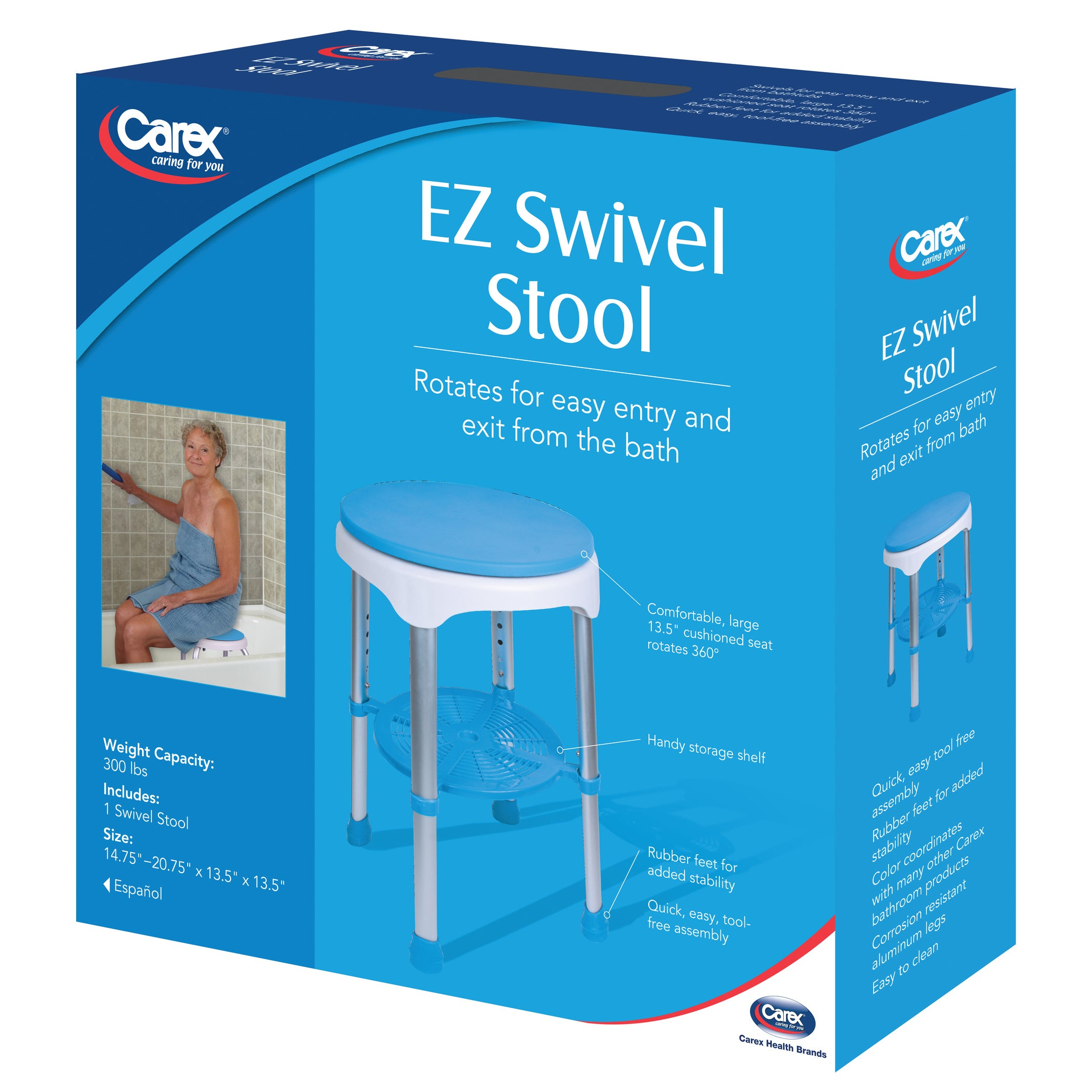 Shop Carex EZ Swivel Stool - Free Shipping Today - Overstock.com ...