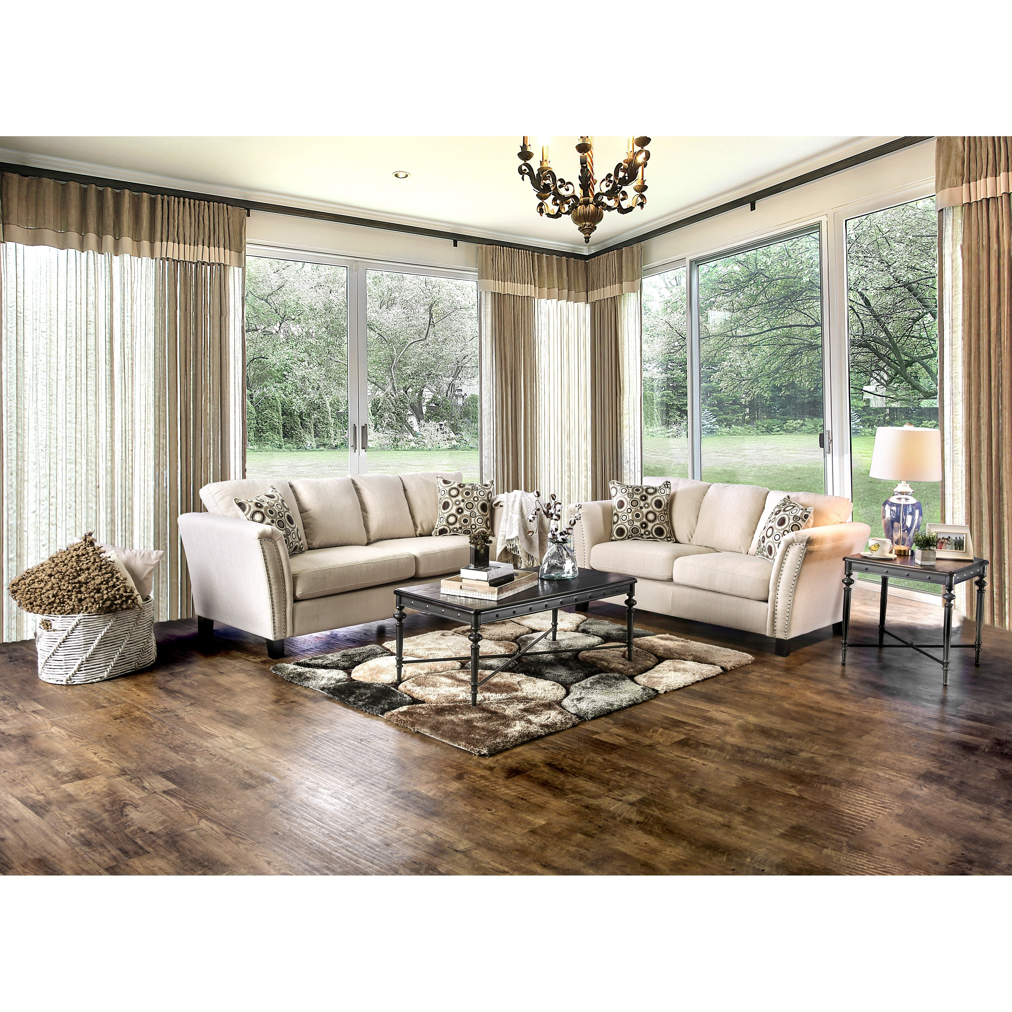 Nice Furniture Of America Vellaire Contemporary 2 Piece Sofa Set   Free Shipping  Today   Overstock.com   17620147