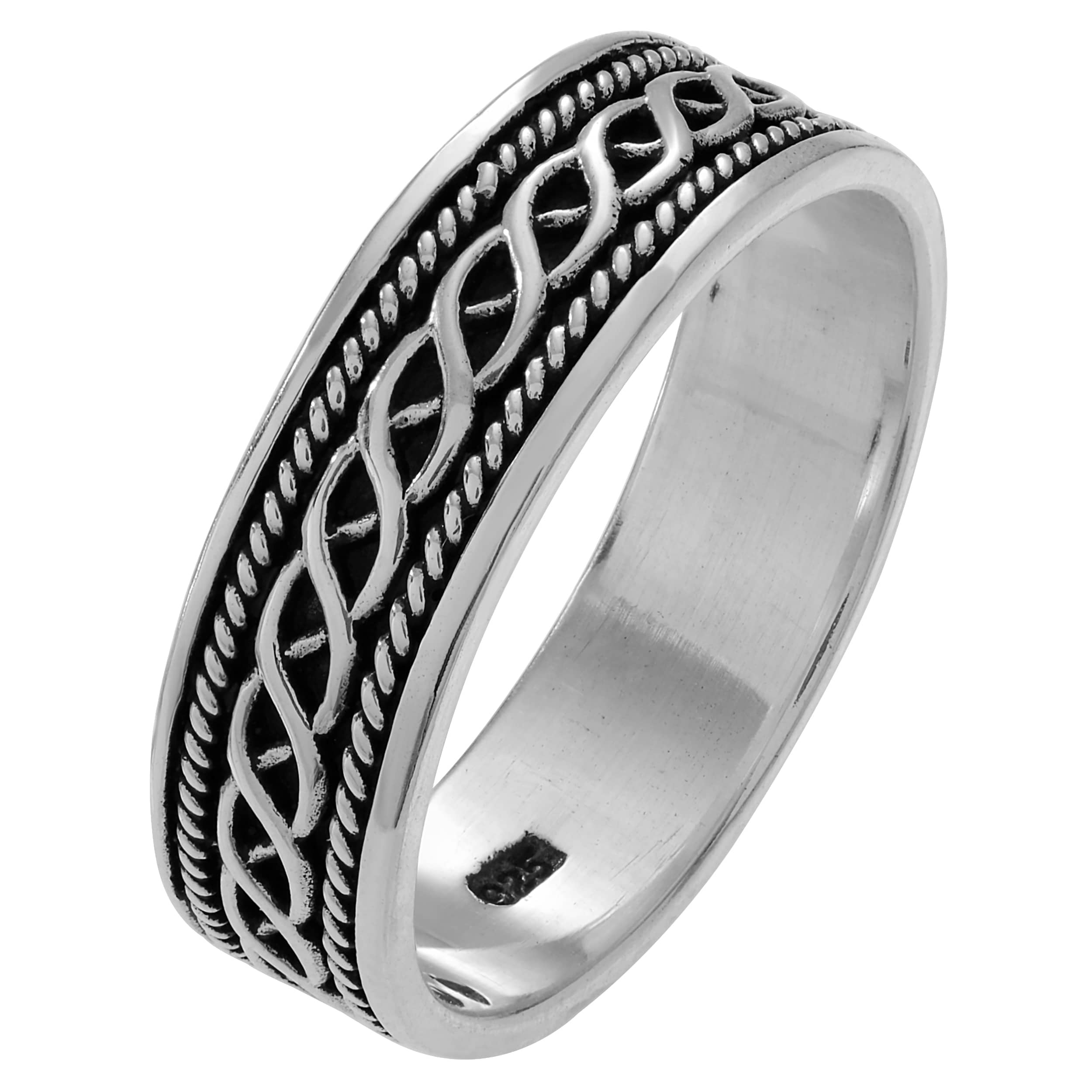valeriosilver sterling fairtrade wedding infinity silver mens bands valeriojewelry band men ring court s comp