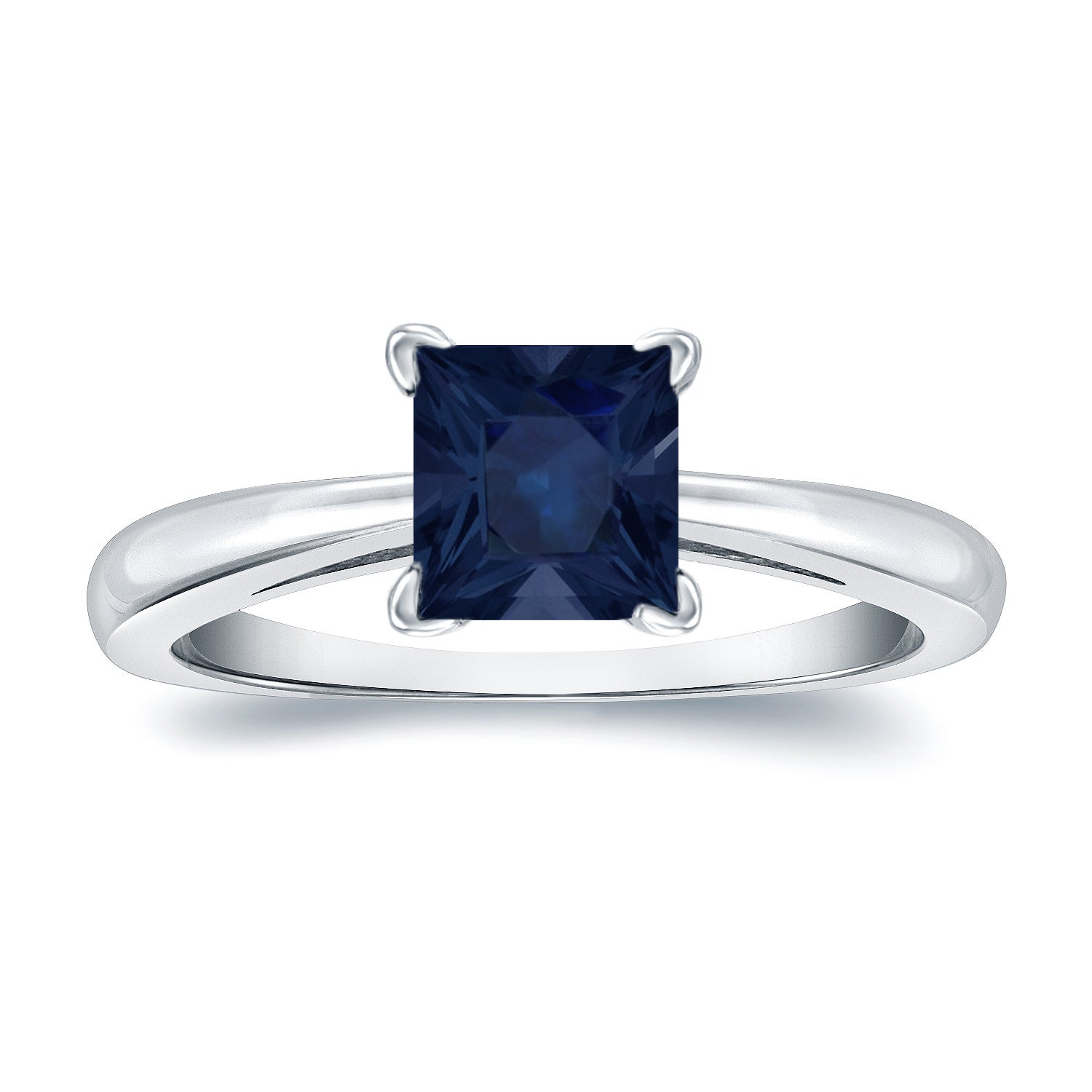 gold t solitaire square miabella sapphire ring carat com cut white ip created engagement w walmart