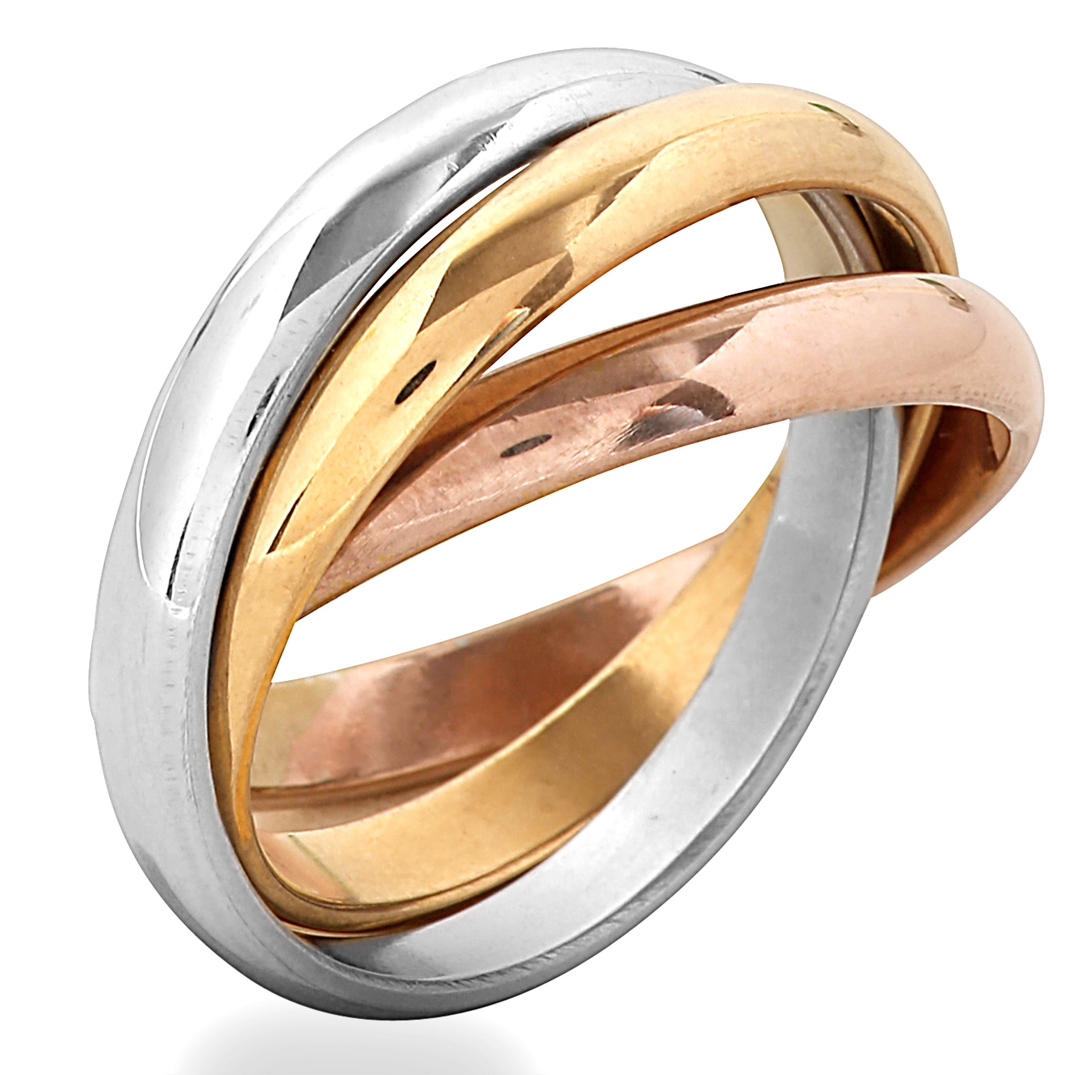 gold in tri pin ring ideas diamonds color rolling wedding colored bands pinterest