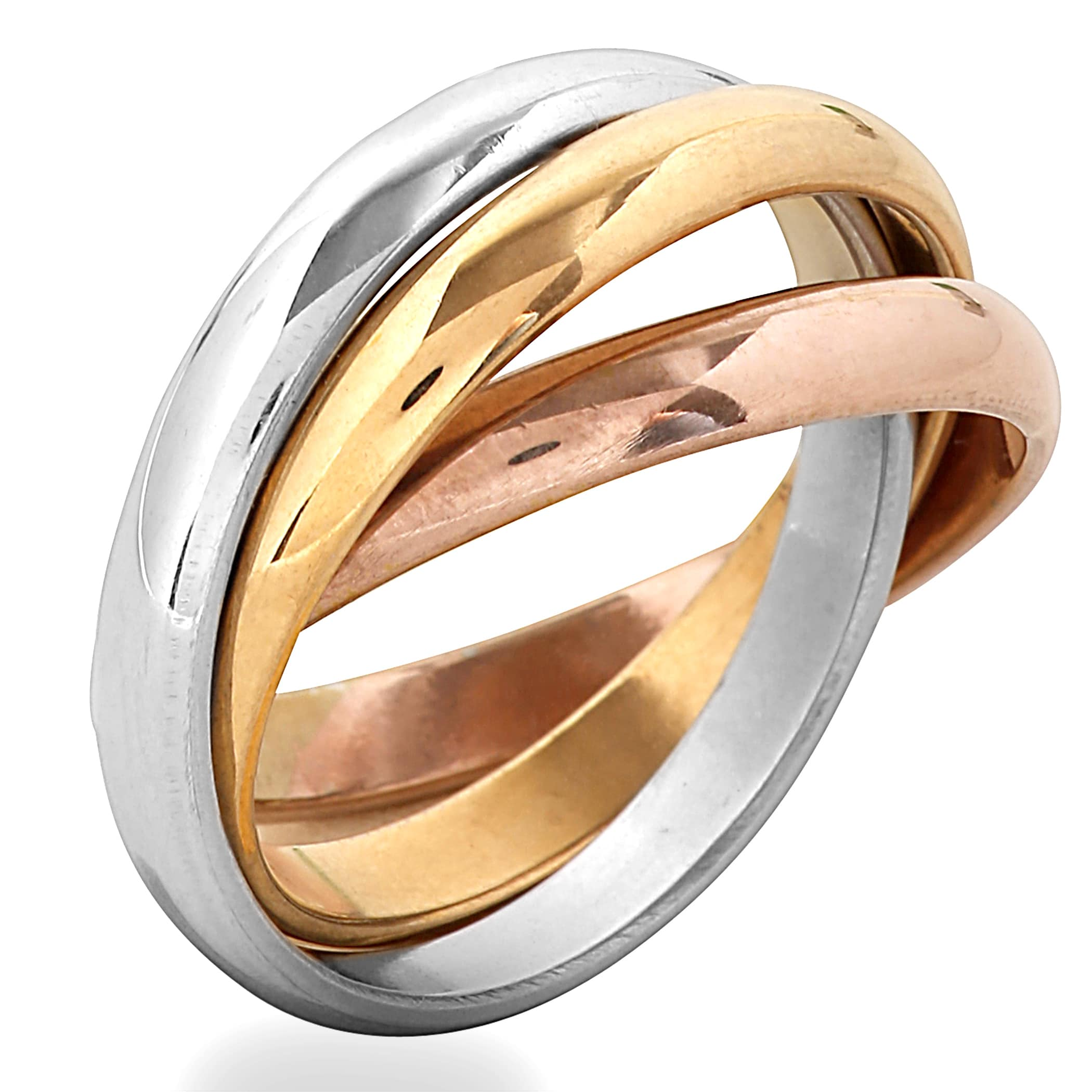 color fit pc rings tri rope band htm wedding unisex comfort a gold shop braid store at