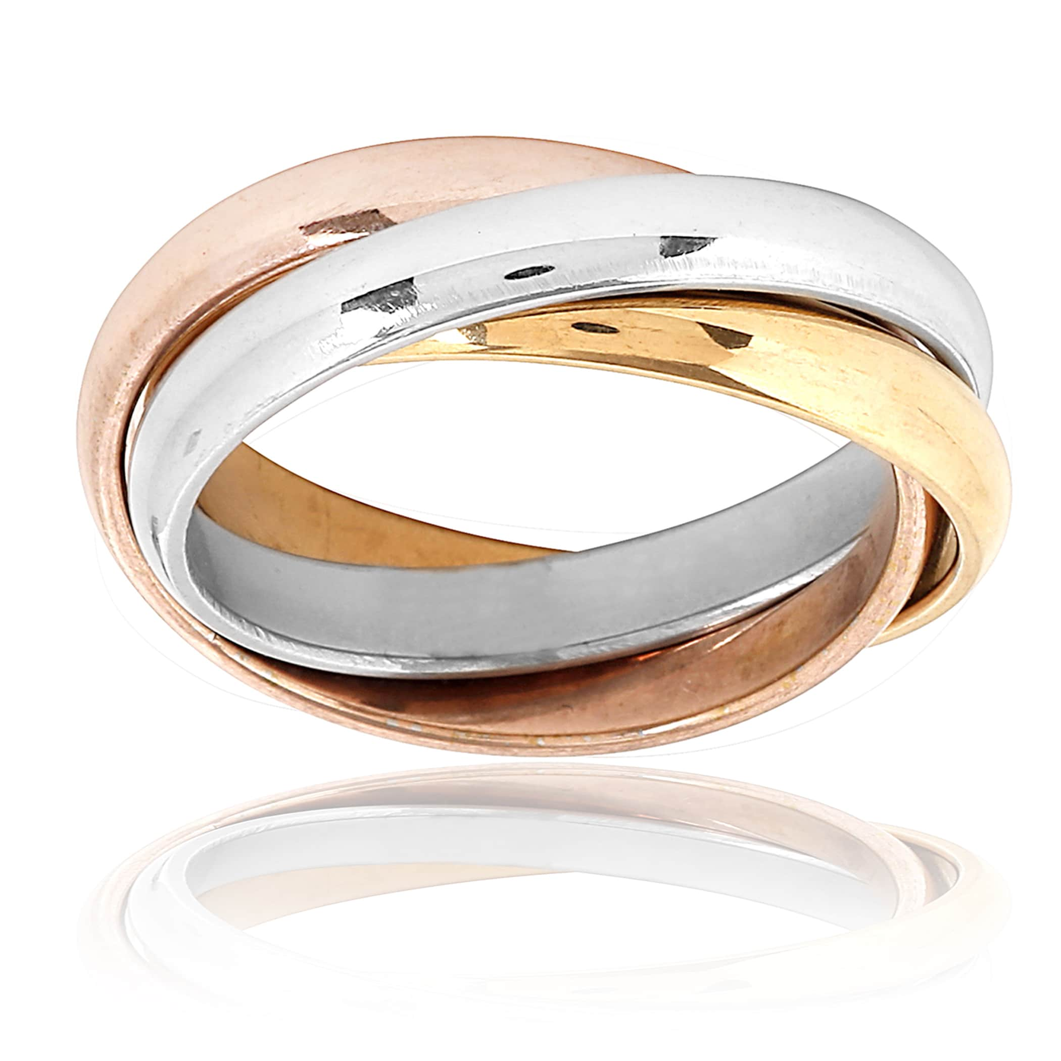 ring normal gallery product jewelry metallic tri lyst criss tritone cross kors rings michael in