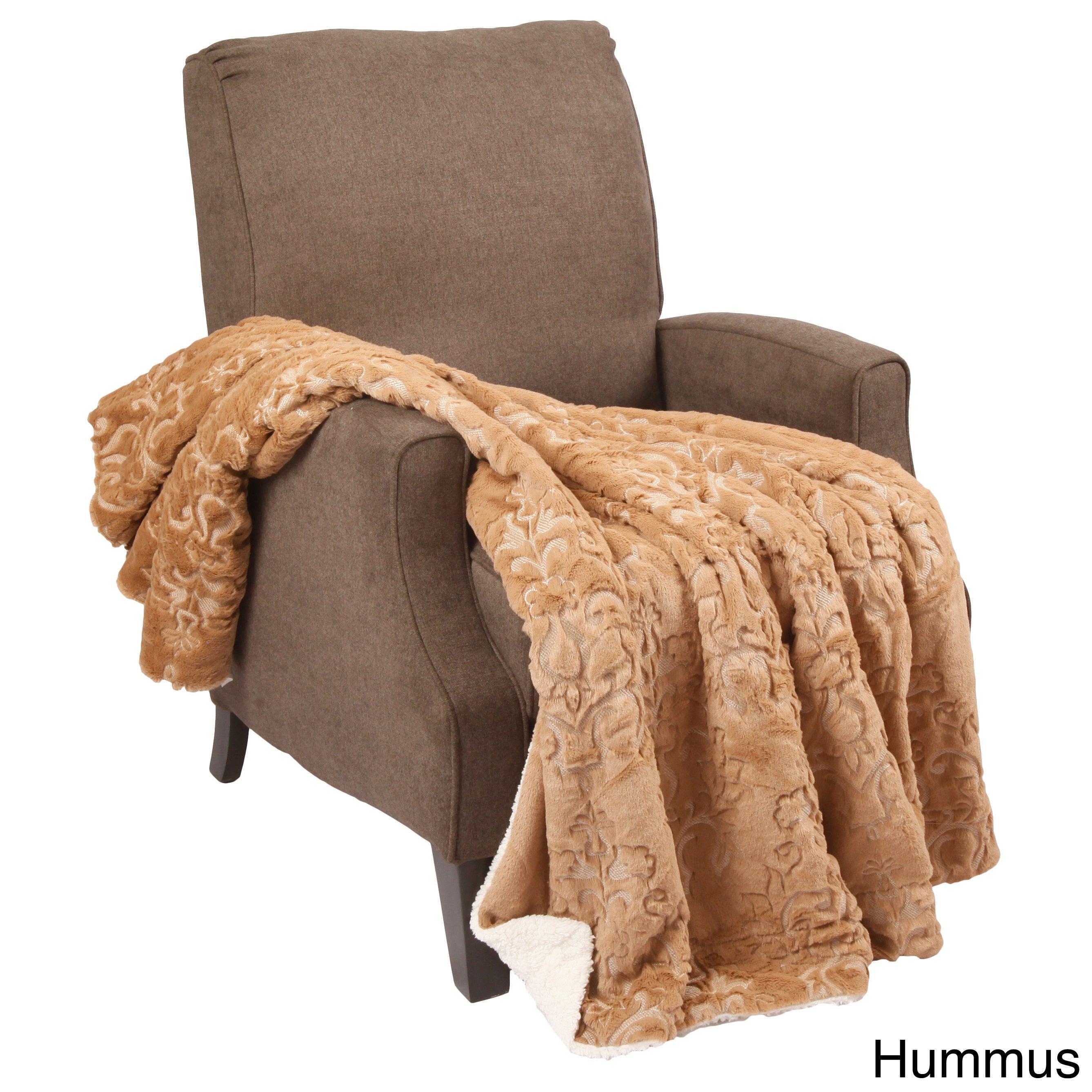 Shop BOON Embroidery Batik Sherpa Throw Blanket - 50\