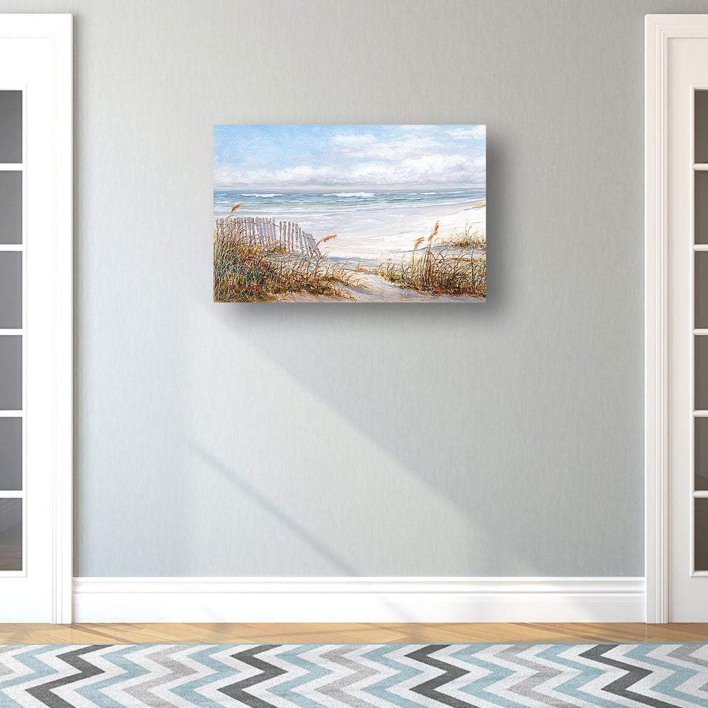 Portfolio Canvas Decor 'Beach Fence' Robin Scott 24-inch x 36-inch Wrapped  Canvas Wall Art - Free Shipping Today - Overstock.com - 17621307