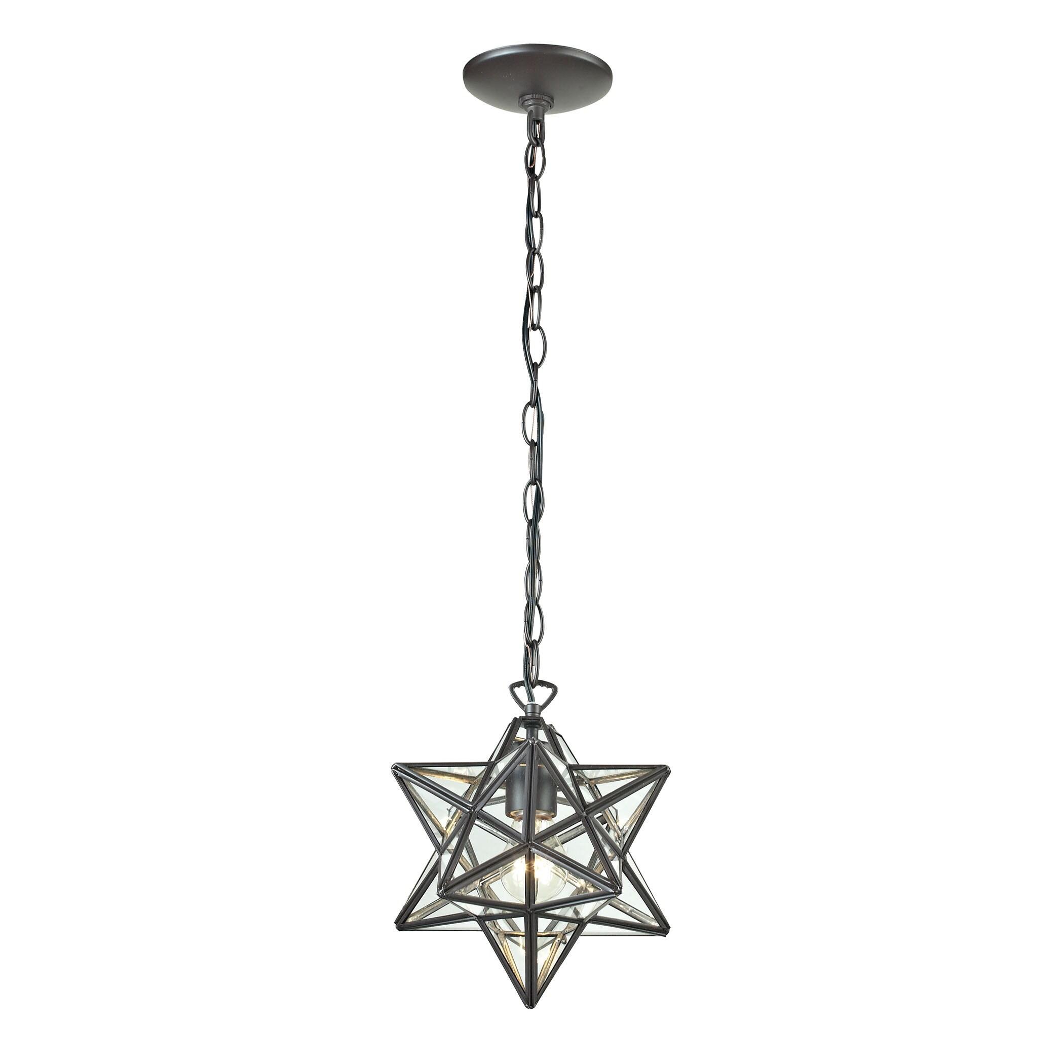 Sterling star 1 light glass pendant lamp