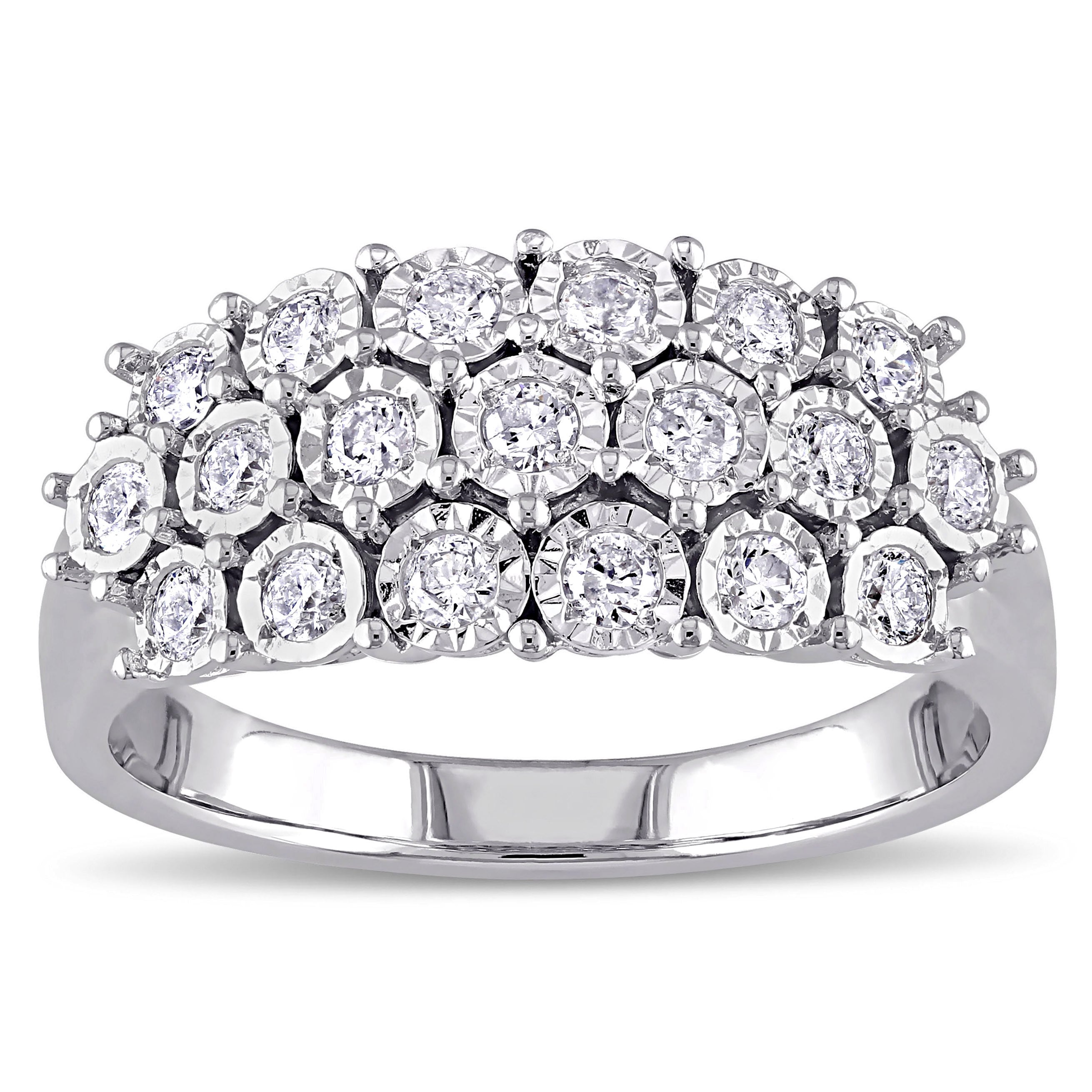 multi shape rings bands diamond standing ring