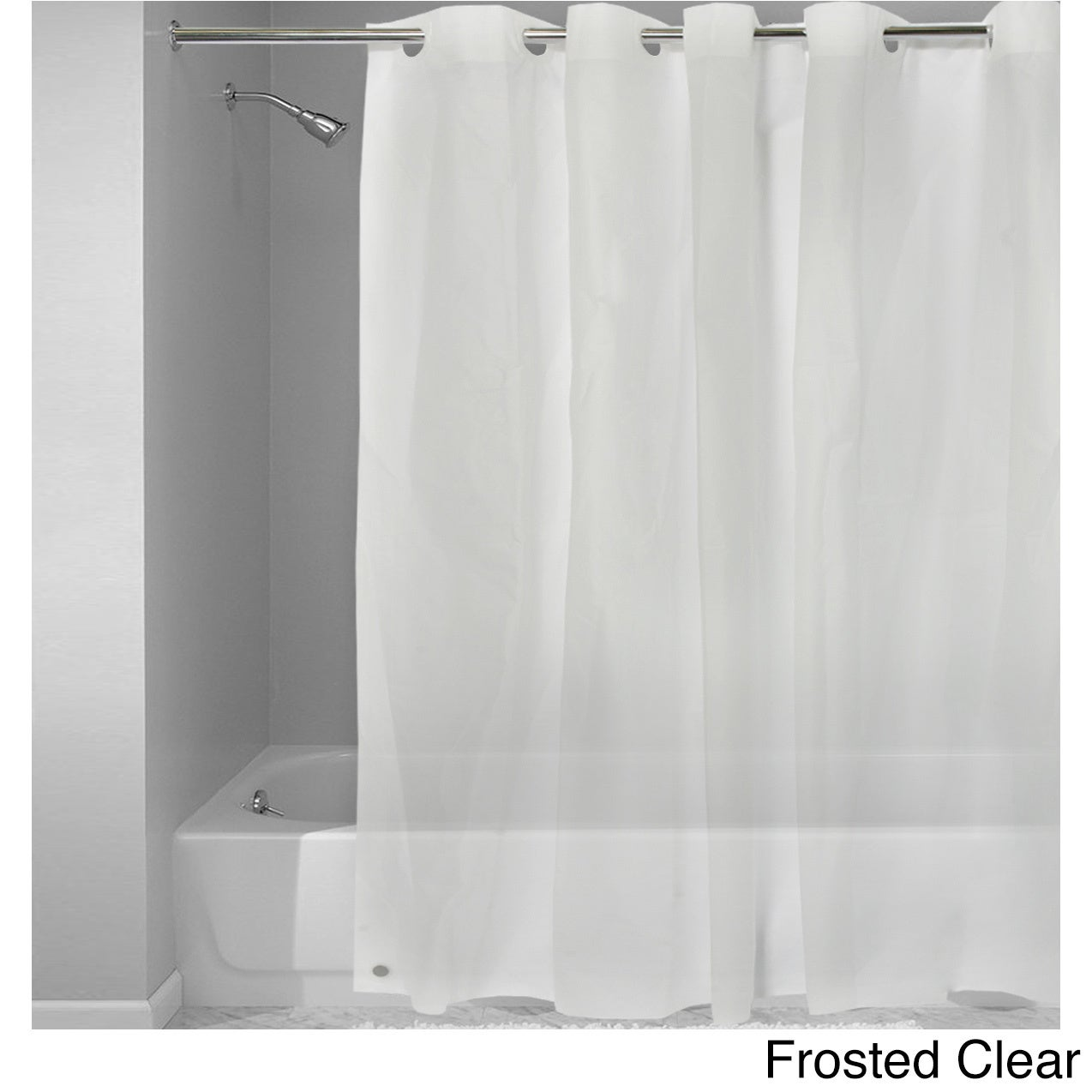 Easy On Shower Curtain/Liner with Built in Hooks - Free Shipping ...
