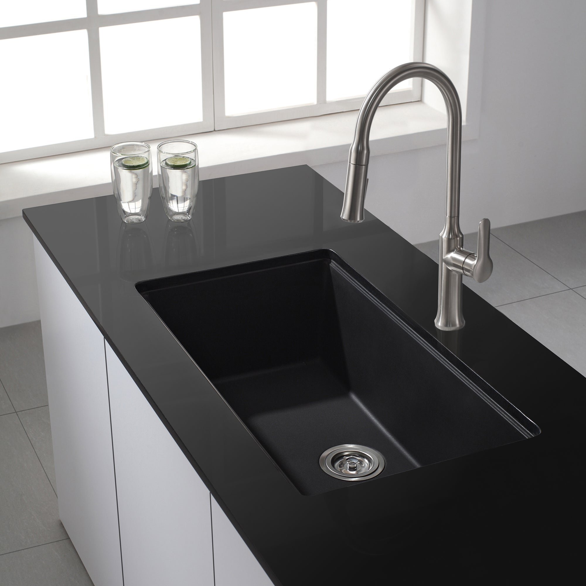 Shop Kraus 31-inch Undermount Single Bowl Sink w/ Pull Down Faucet ...