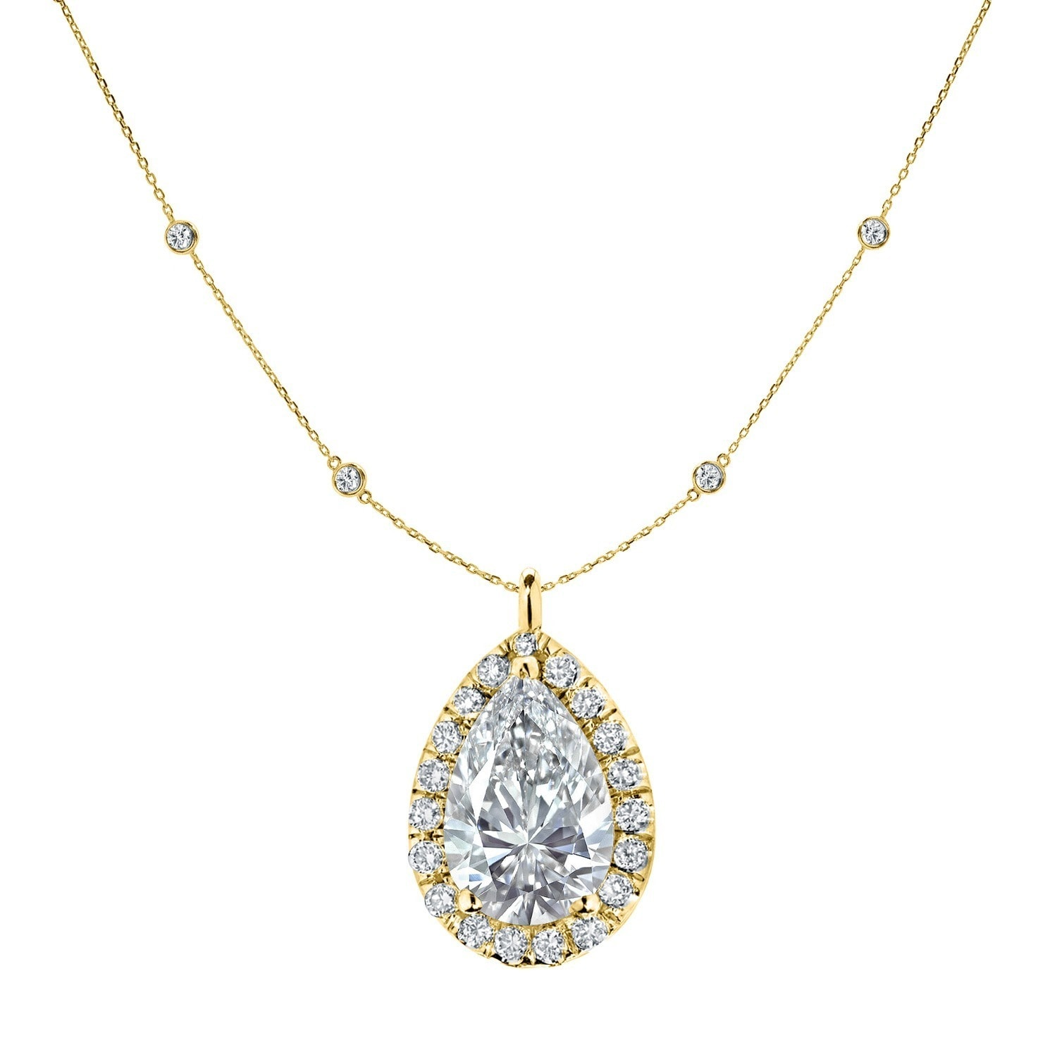 blue shaped round cluster pendant shape pear brilliant white x diamond and gold topaz