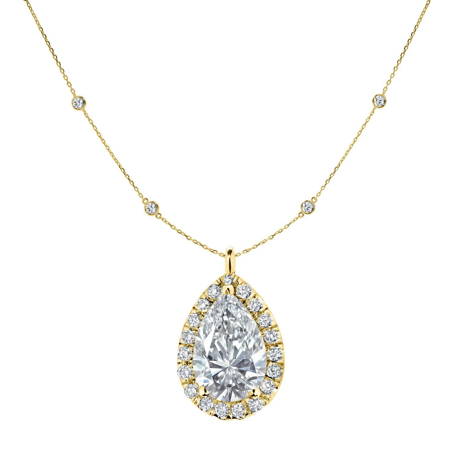 shape diamonds diamond platinum by tiffany co necklace peretti shaped elsa pear pendant yard the