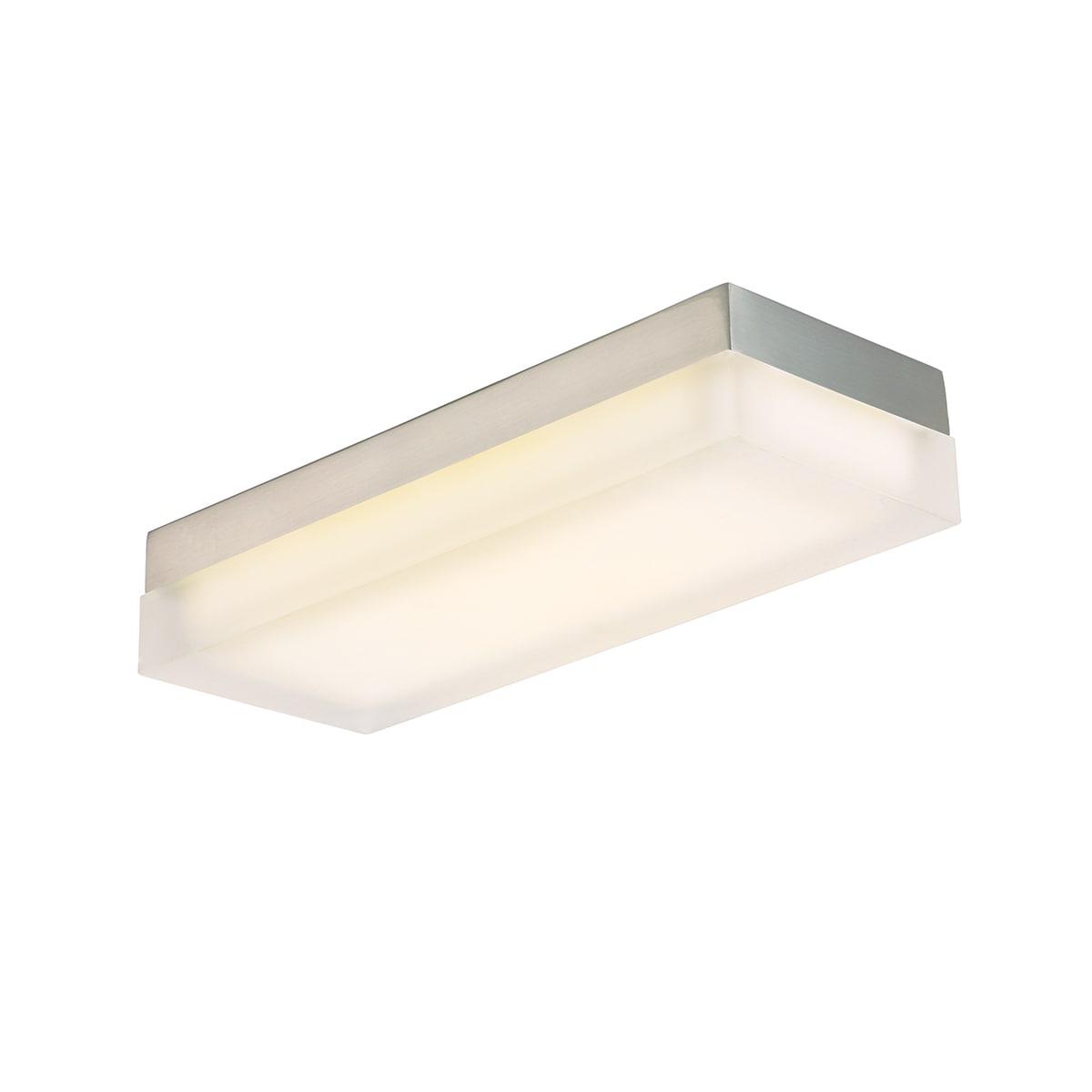 Dice led rectangular 1 light flush mount