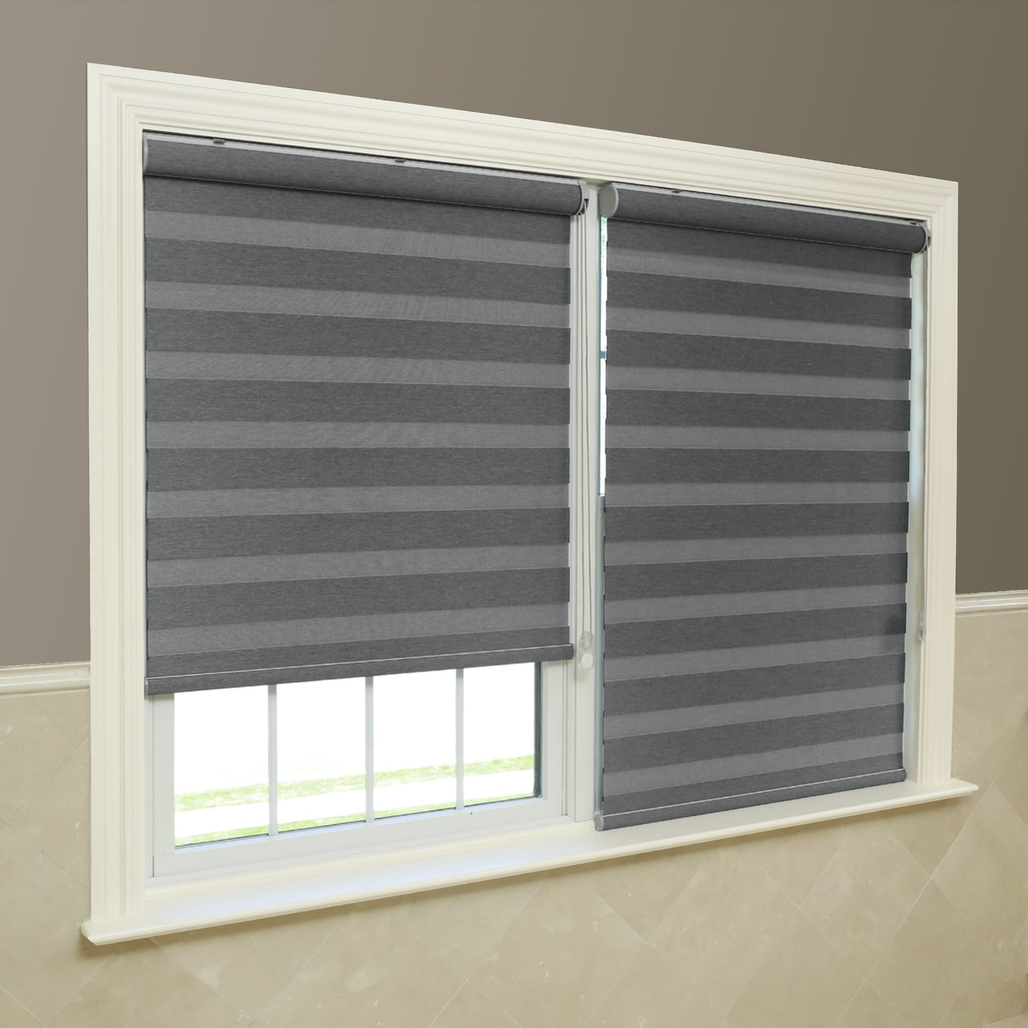 window aurora today product fabric home coconut blackout premium shade duo shipping garden free blinds overstock sunshut
