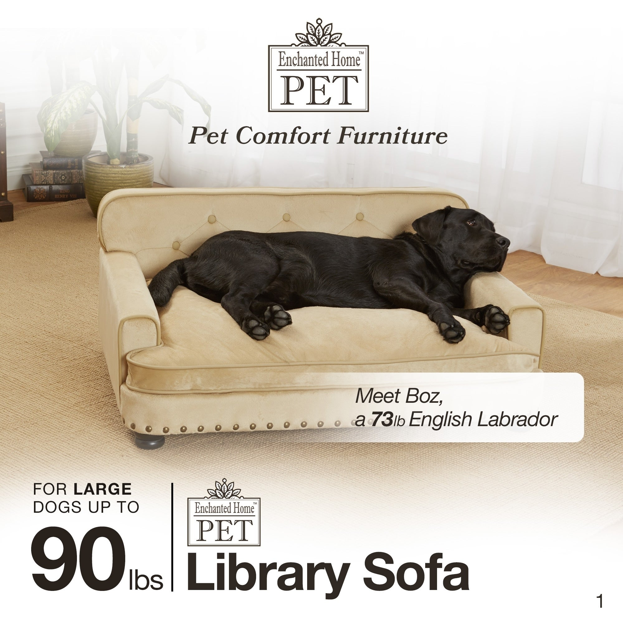 Enchanted Home Pet Caramel Ultra Plush Library Sofa Bed Free Shipping Today 10544255