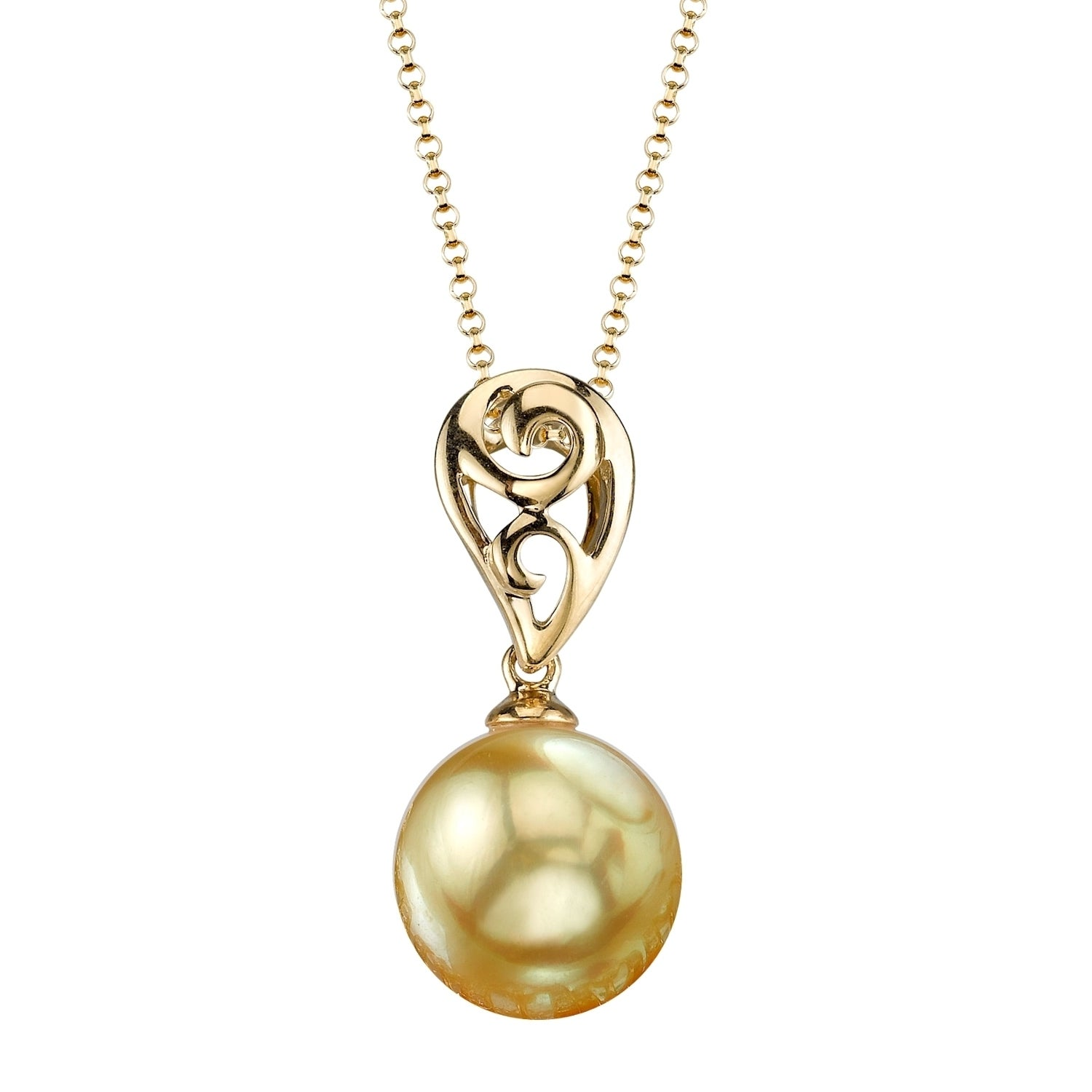 Shop radiance pearl 18k yellow gold golden south sea pearl pendant shop radiance pearl 18k yellow gold golden south sea pearl pendant 9 10mm 10 11 mm on sale free shipping today overstock 10546483 aloadofball Gallery
