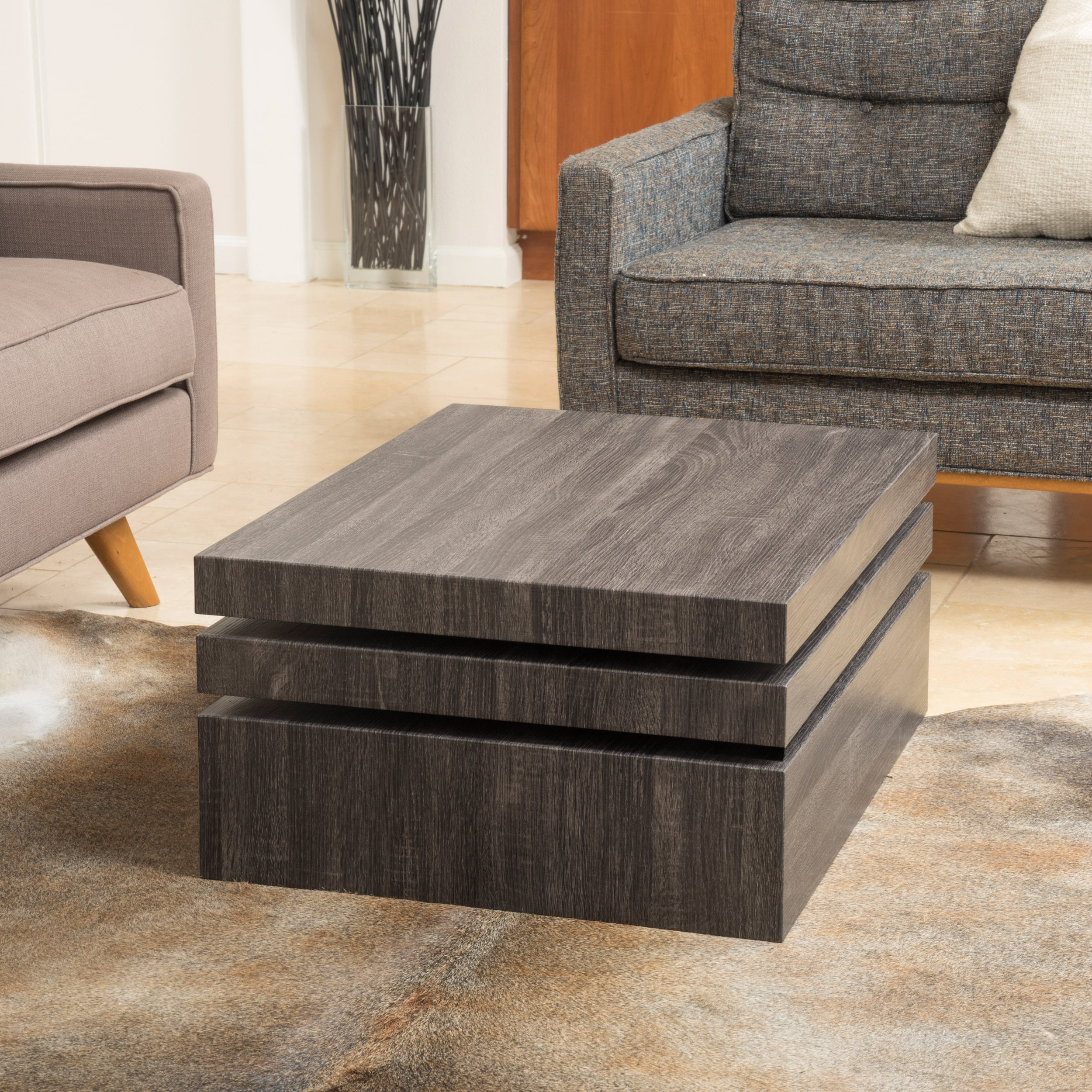 Shop Carson Rotating Wood Coffee Table By Christopher Knight Home   On Sale    Free Shipping Today   Overstock.com   10546676