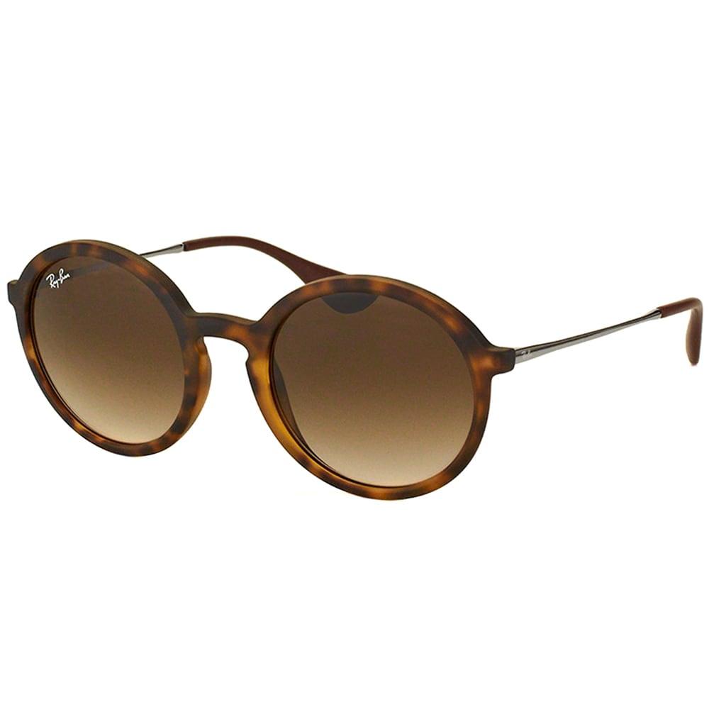 dfb595c90d152 Ray Ban Unisex RB 4222 865 13 Dark Rubber Havana Round Sunglasses