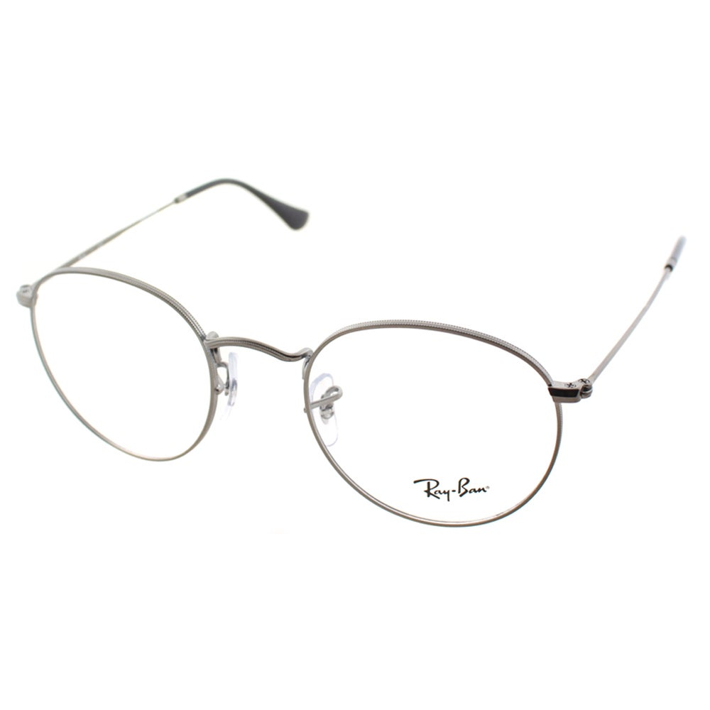 5d42fa88f5 Shop Ray Ban Unisex RX 3447V 2620 50mm Matte Gunmetal Round Metal Eyeglasses  - On Sale - Ships To Canada - Overstock - 10547879