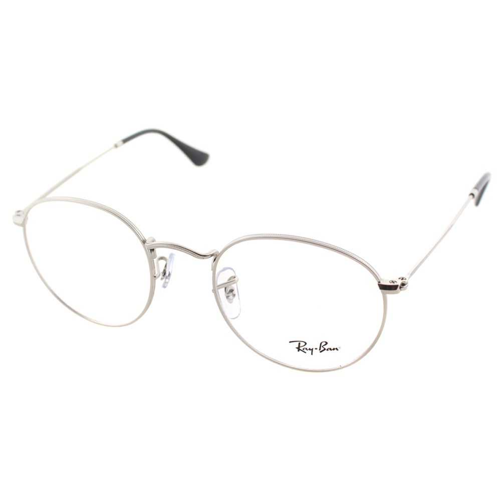 32ca53d4e34 Shop Ray Ban Unisex RX 3447V 2538 50mm Matte Silver Round Metal Eyeglasses  - Free Shipping Today - Overstock - 10547882