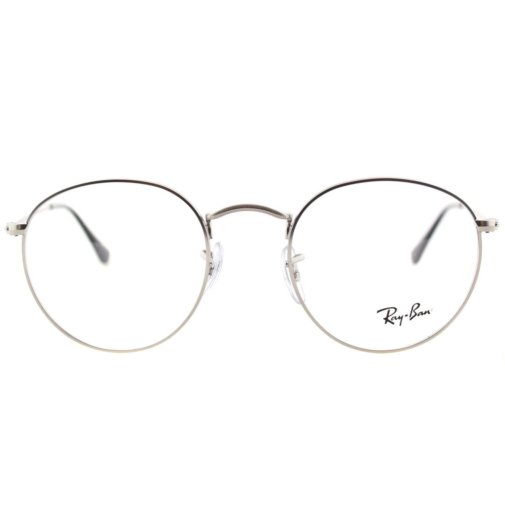 858050d5e3 ... top quality shop ray ban unisex rx 3447v 2538 50mm matte silver round  metal eyeglasses free