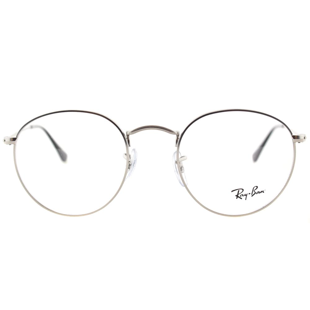 1d743f72684 ... top quality shop ray ban unisex rx 3447v 2538 50mm matte silver round  metal eyeglasses free