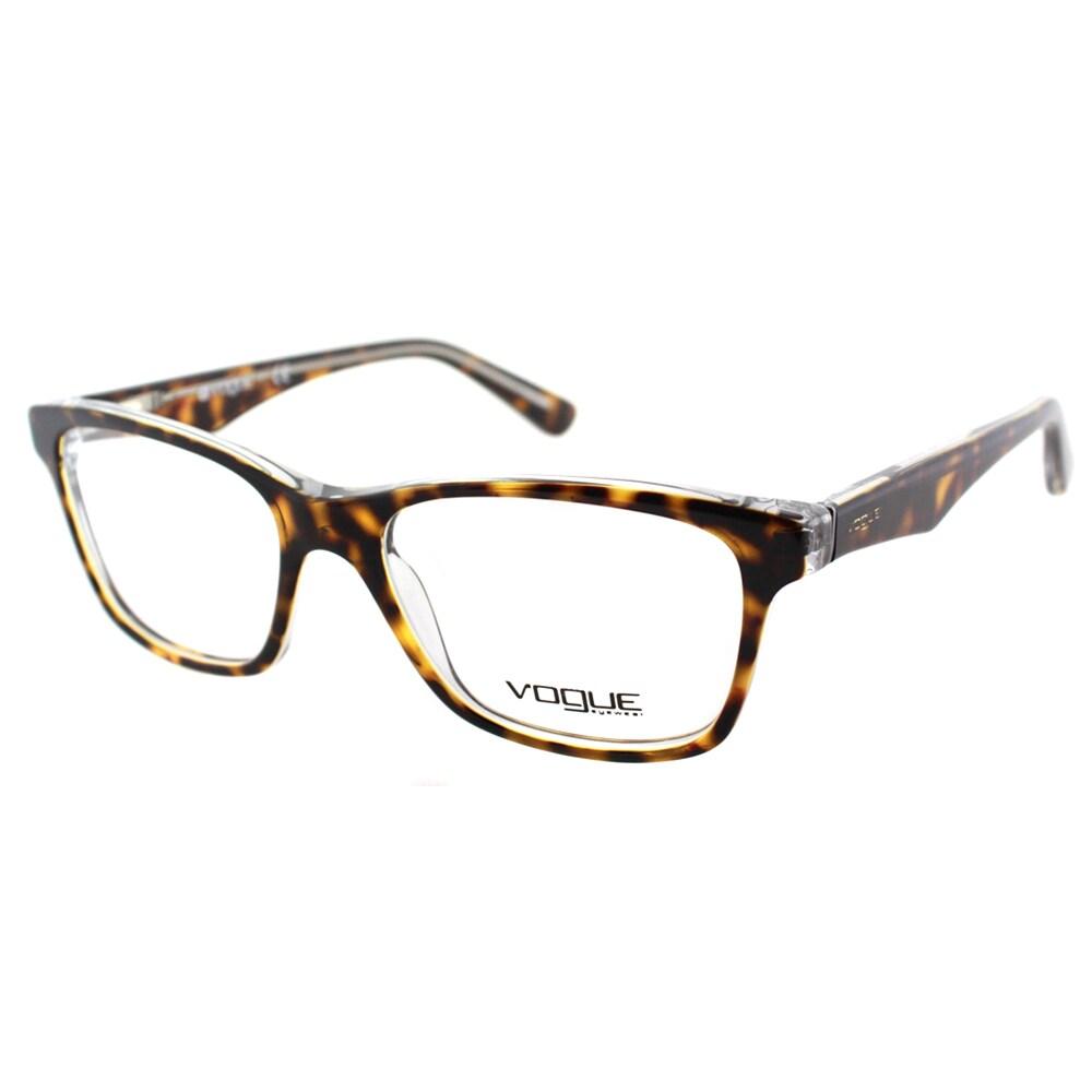 79bd421cd3 Shop Vogue Eyewear Women s VO 2787 1916 51mm Havana On Transparent Plastic  Square Eyeglasses - Free Shipping Today - Overstock.com - 10547897