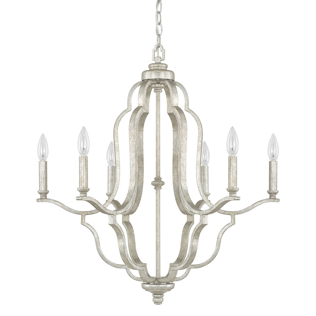 Shop Capital Lighting Blair Collection 6-light Antique Silver Chandelier -  Free Shipping Today - Overstock.com - 10548906 - Shop Capital Lighting Blair Collection 6-light Antique Silver