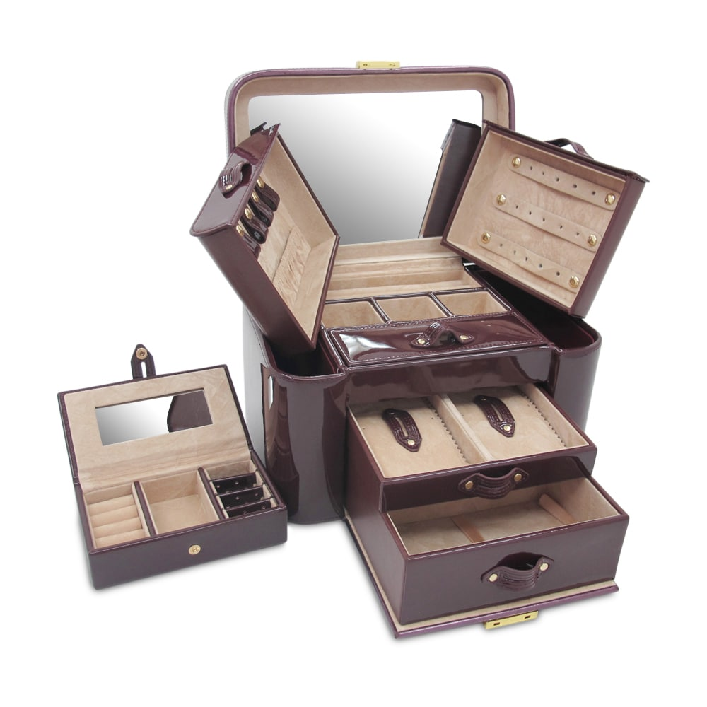 Morelle Co Natalie Leather Two Side Pullout Jewelry Box Free