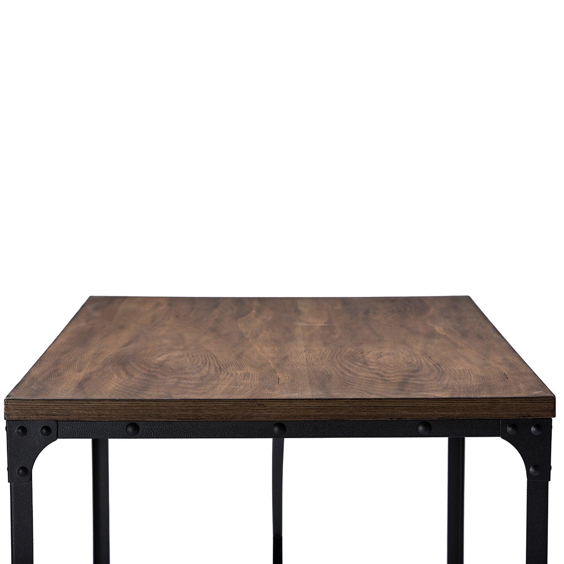 Baxton Studio Greyson Antique Bronze Wood/Metal Home Office Desk ...