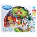 3 in 1 Safari Gym Baby Playmat Activity Center