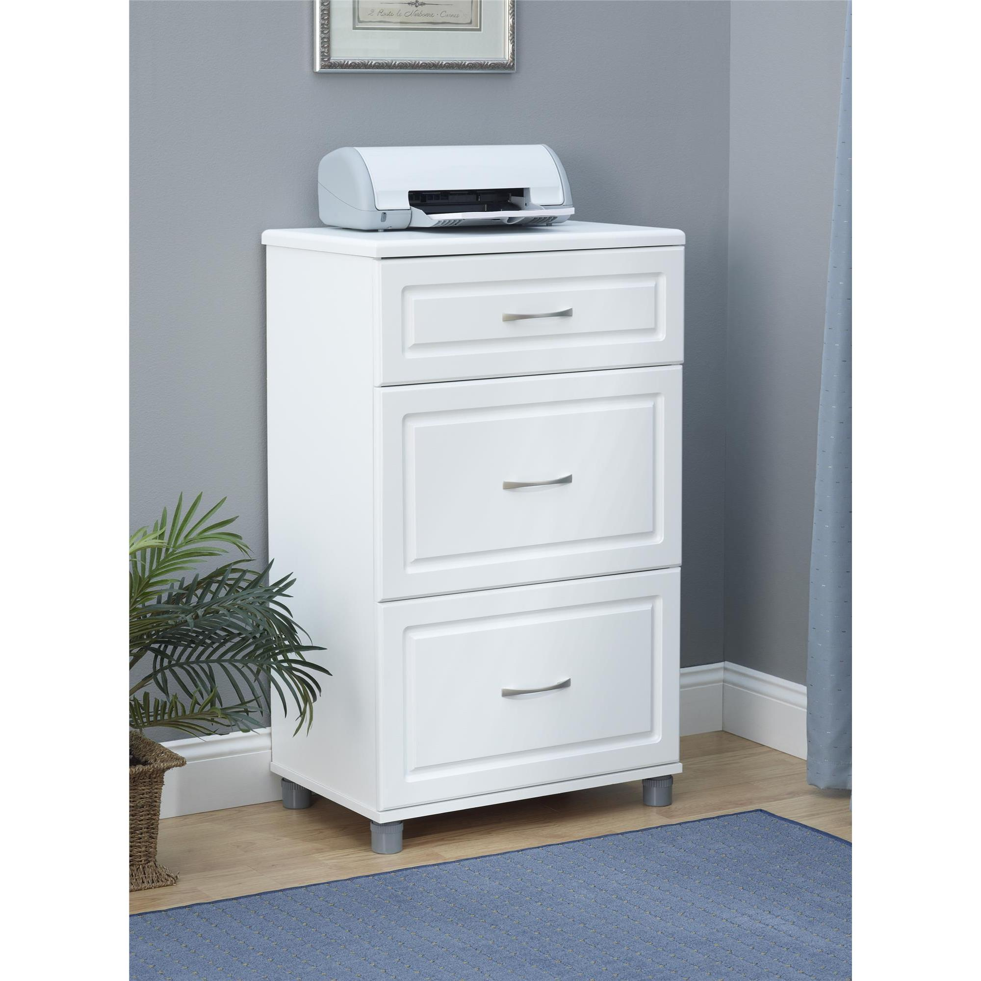 Systembuild White Kendall 24 Inch 3 Drawer Base Cabinet