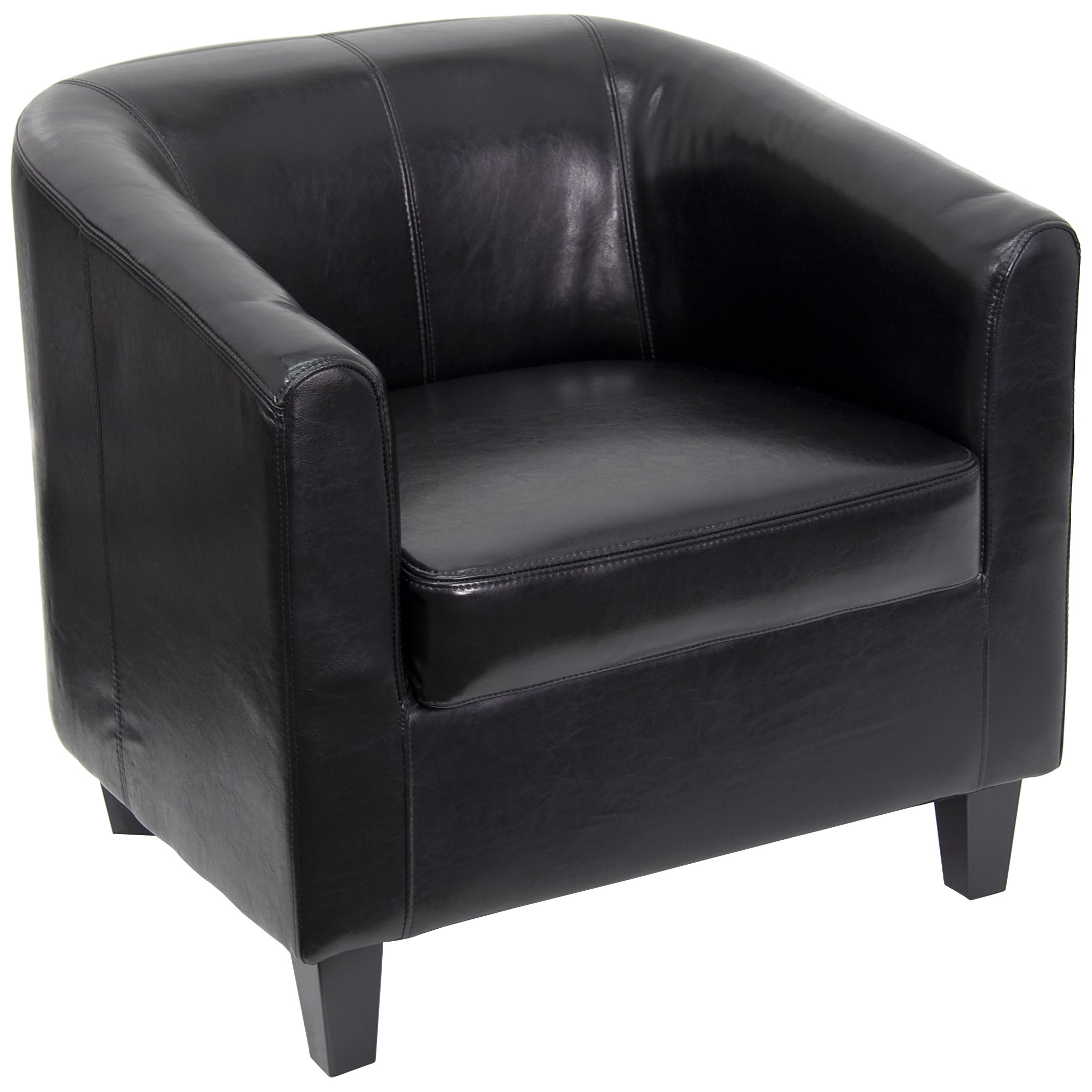 shop flash furniture black leather office guest chair reception