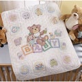 Baby Blocks Crib Cover Stamped Cross Stitch Kit34inX43in