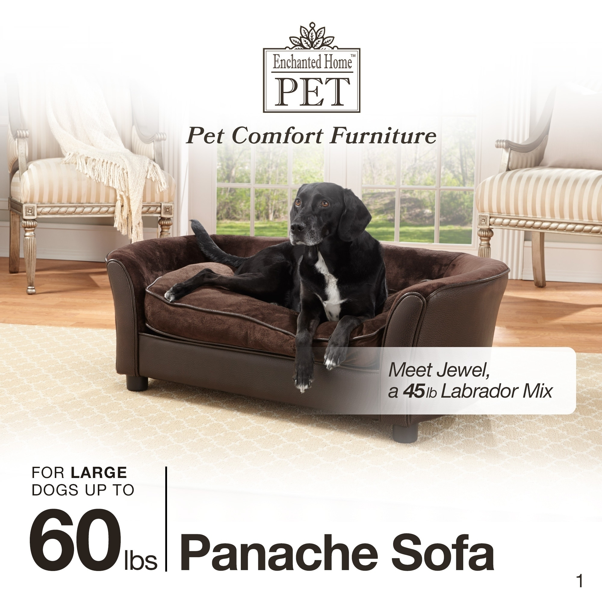Enchanted Home Brown Ultra-plush Panache Pet Bed Sofa - Free Shipping Today  - Overstock.com - 17634571