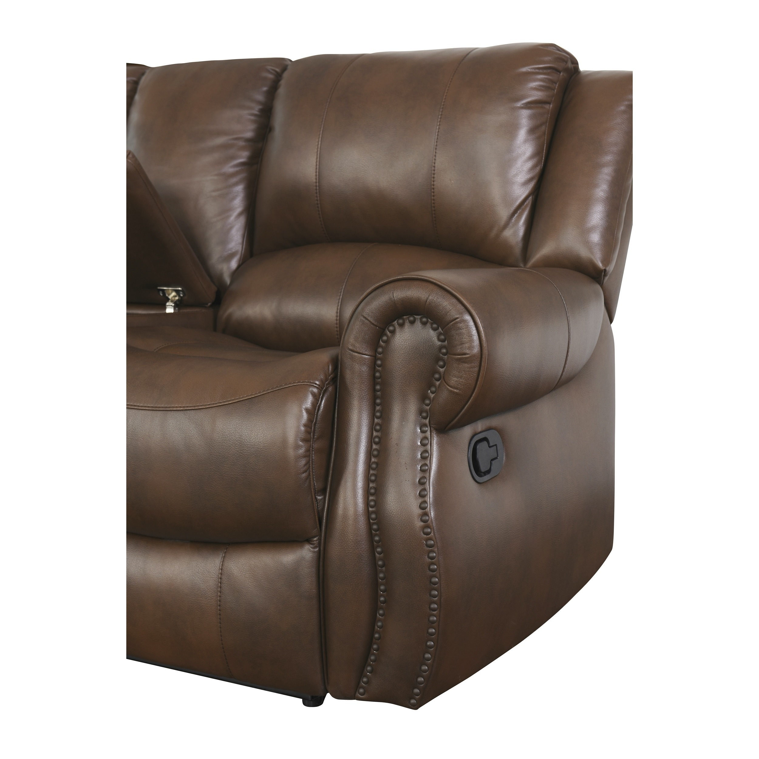 Abbyson Calabasas Mesa Brown Reclining Sofa   Free Shipping Today    Overstock.com   17634570