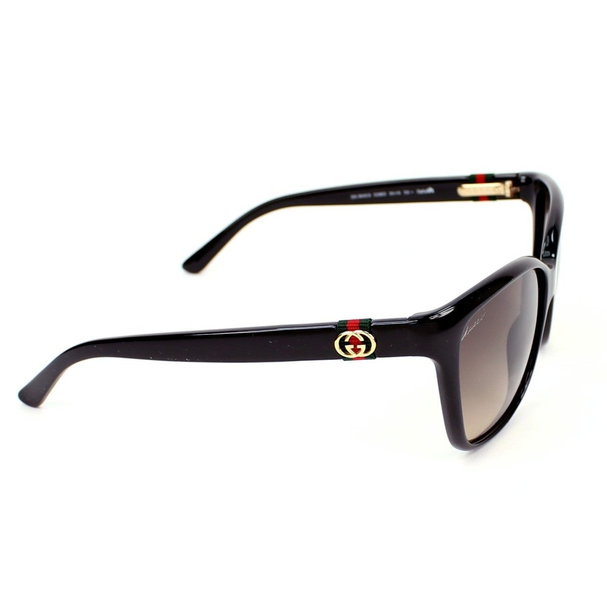 aaaecd497c4 Shop Gucci GG 3645 S Brown Gradient Lenses Shiny Black Frame Sunglasses -  Free Shipping Today - Overstock - 10556477