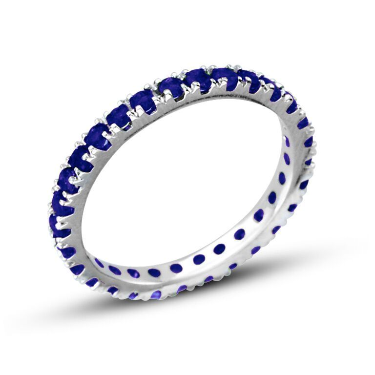 eternity band white gold anniversary bands in cttw sapphire jp floating valerie k