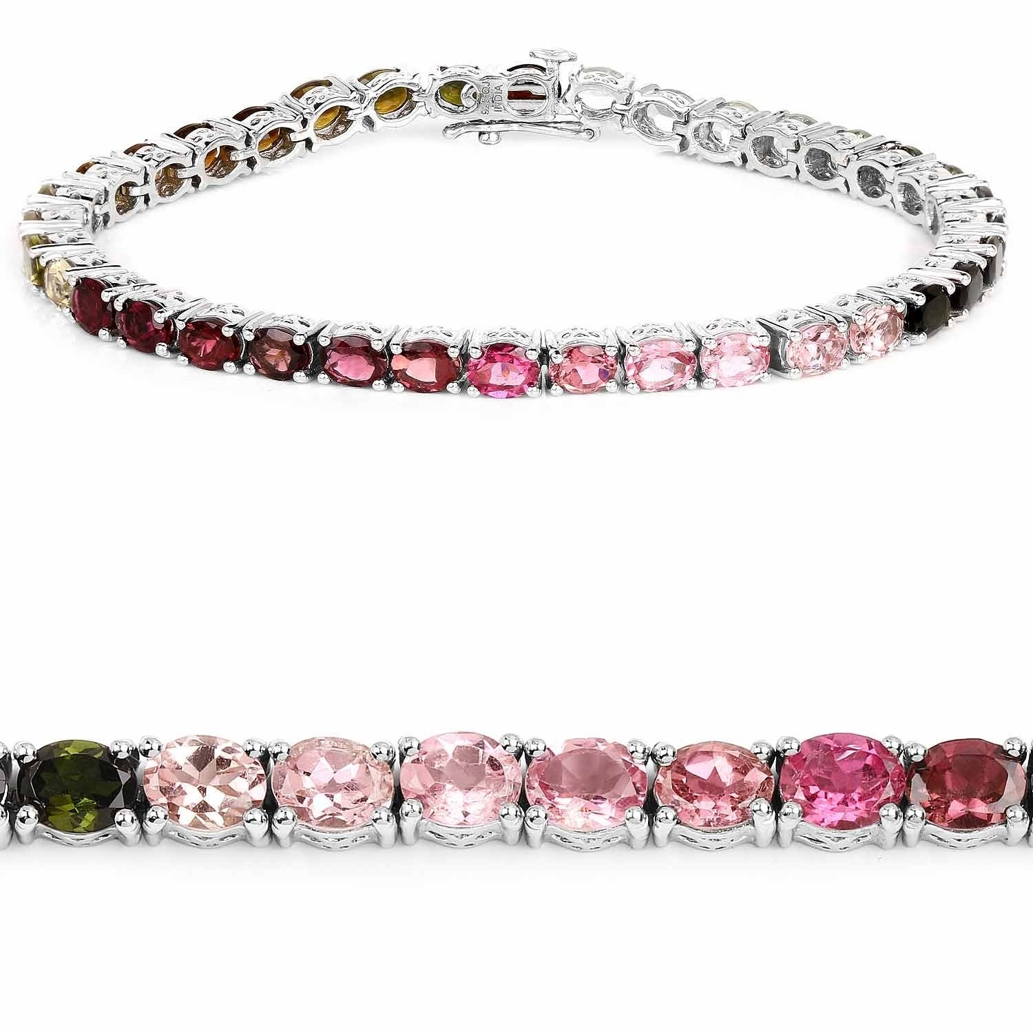 Olivia Leone Sterling Silver 12 3 4ct Multi Tourmaline Bracelet On Free Shipping Today 10561519