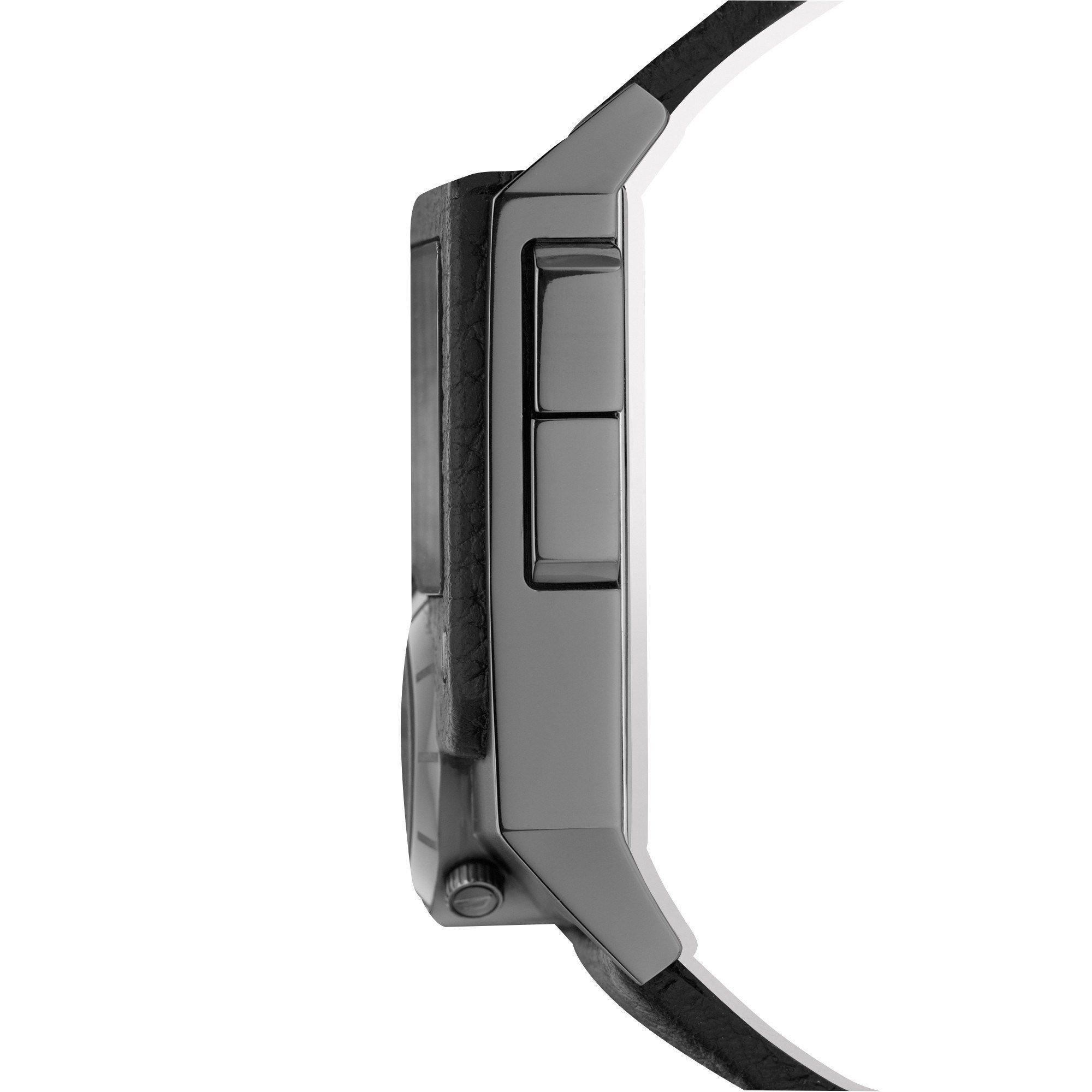 b36b8b050 Shop Diesel Men's DZ7231 'SBA Blackout' Digital Black Leather Watch - Free  Shipping Today - Overstock - 10561713